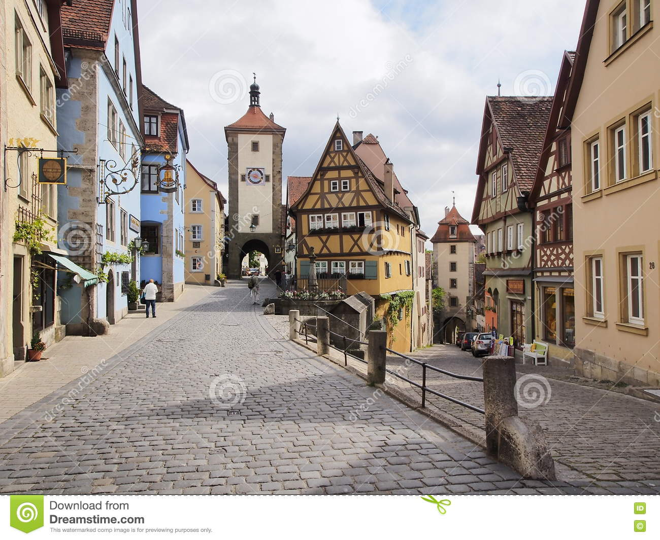 rothenburg ob der tauber malerische mittelalterliche stadt in deutschland redaktionelles. Black Bedroom Furniture Sets. Home Design Ideas