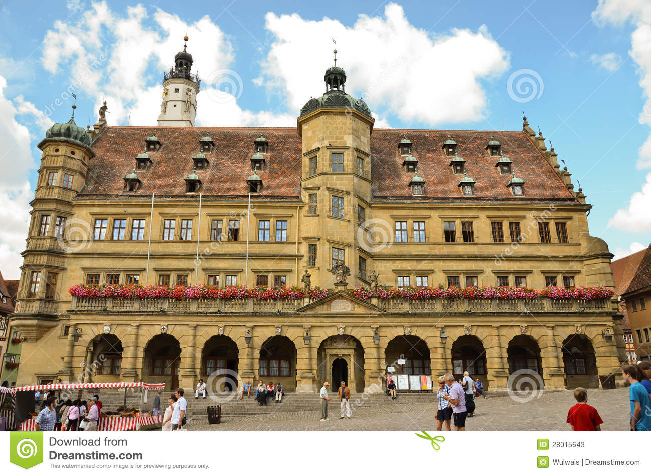 rothenburg ob der tauber town hall editorial stock photo image 28015643. Black Bedroom Furniture Sets. Home Design Ideas