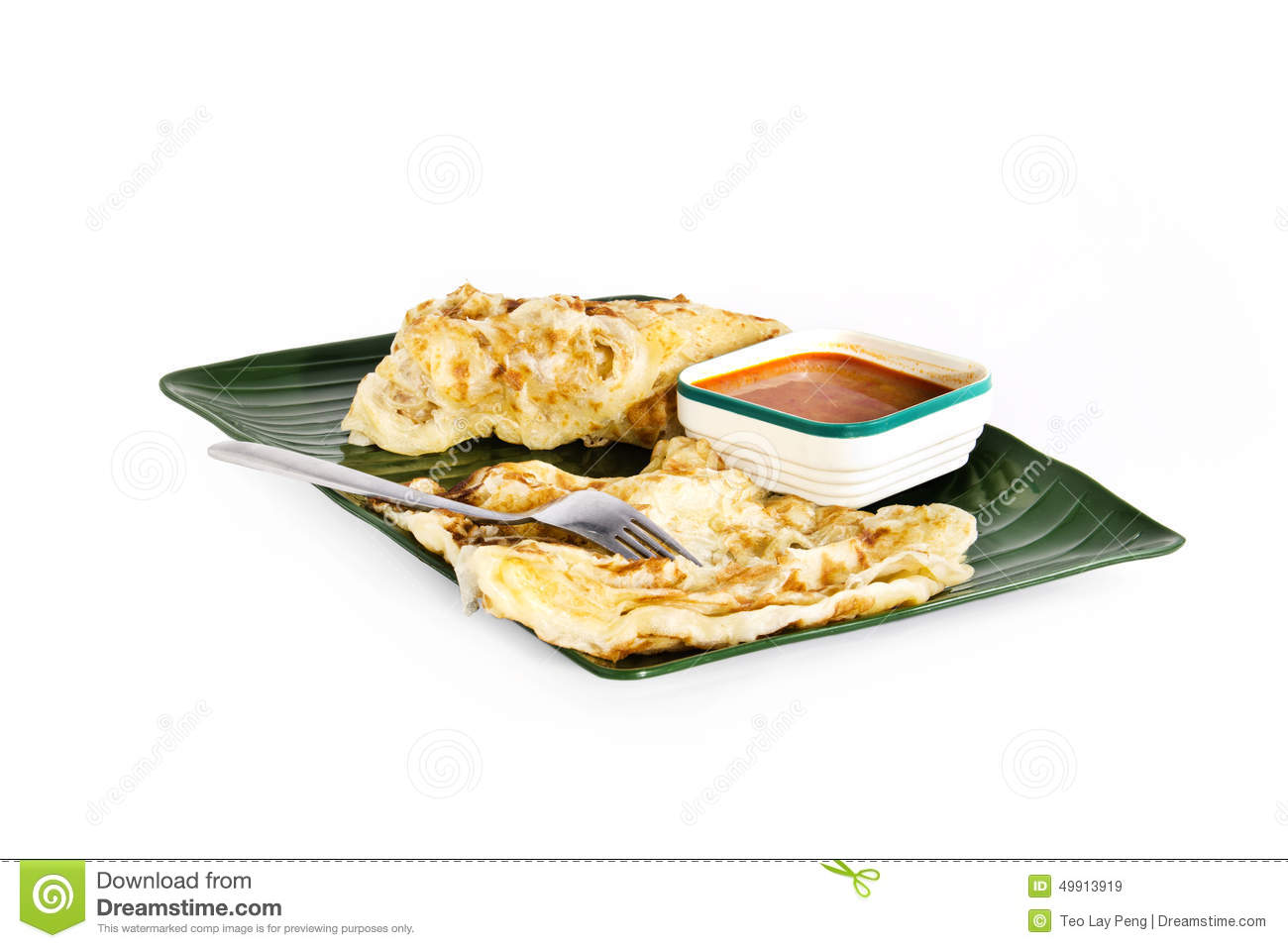 Fried Roti Dough And Curry Stock Photography ...