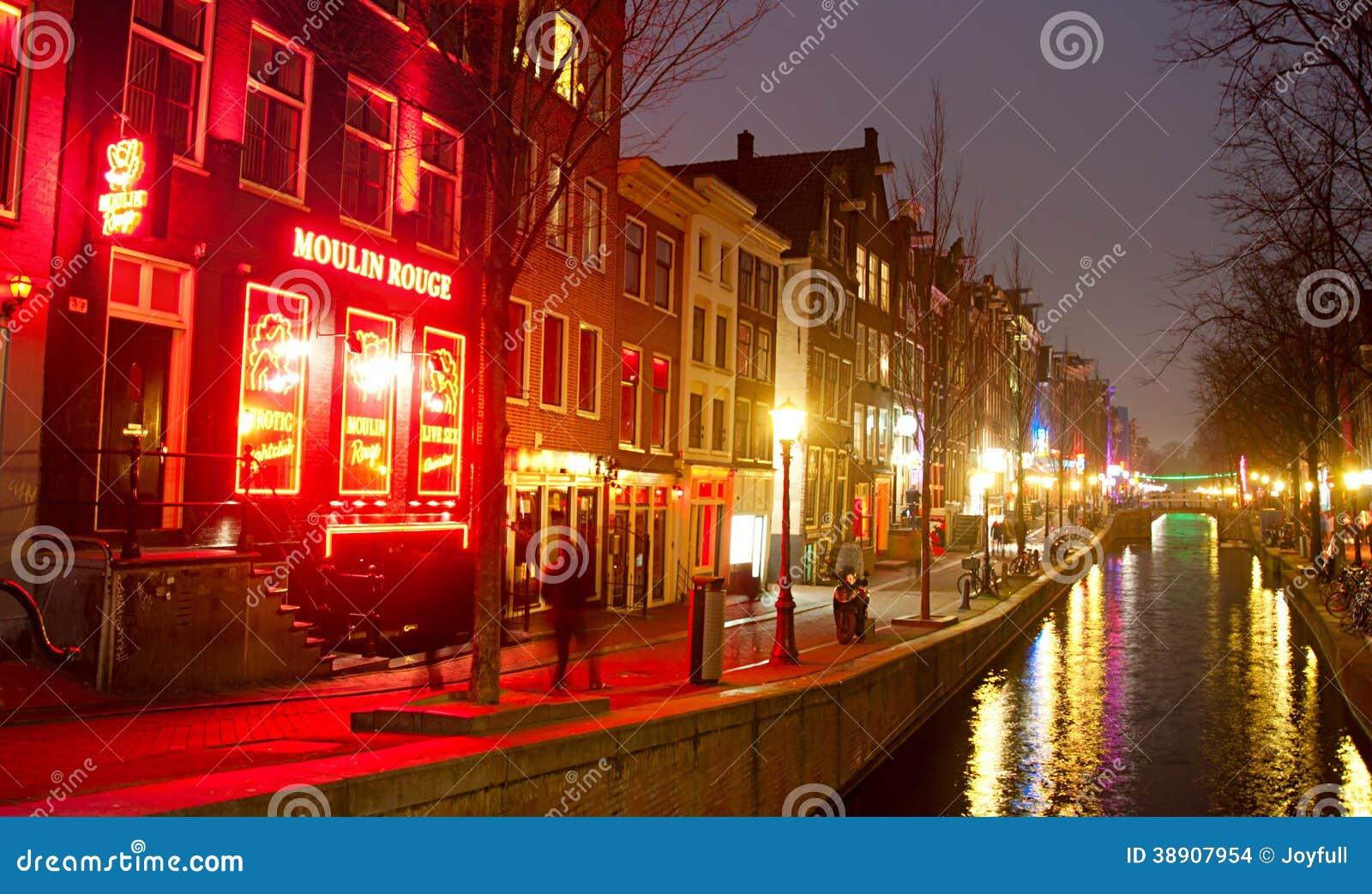 Rotlichtviertel Amsterdam redaktionelles stockbild. Bild