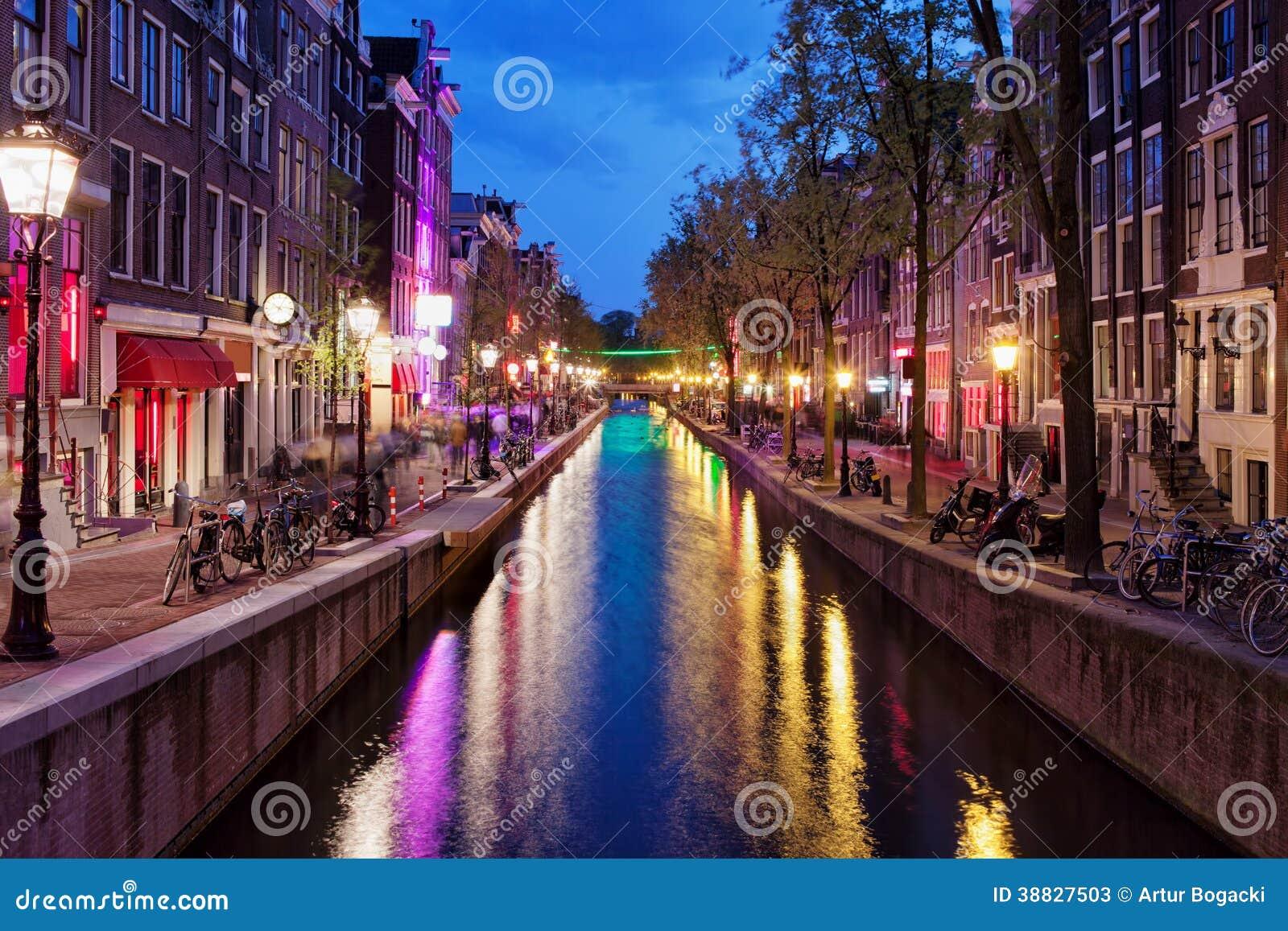 rotlichtviertel bis zum nacht in amsterdam stockbild bild von historisch cityscape 38827503. Black Bedroom Furniture Sets. Home Design Ideas