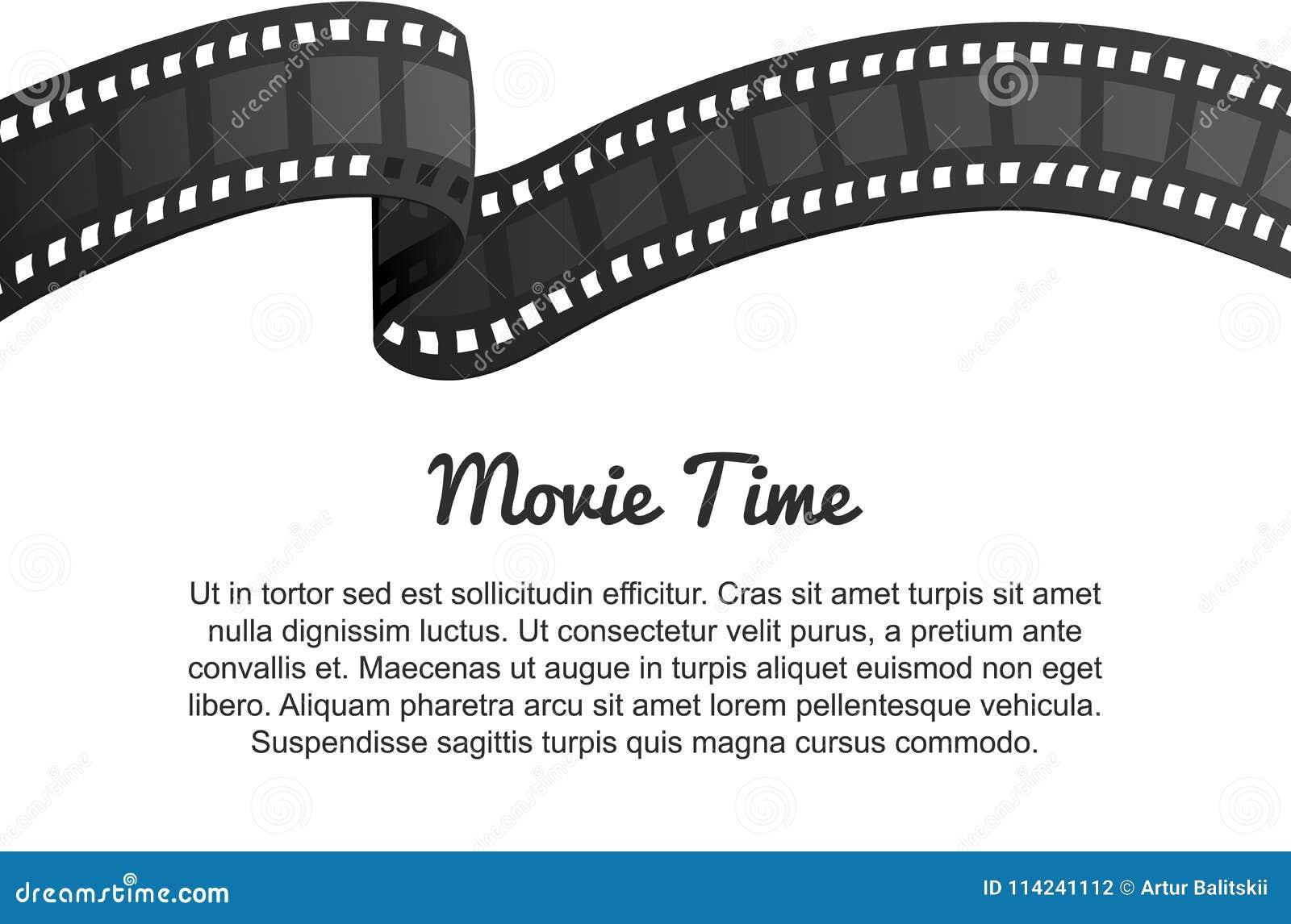 Rotolo d annata della striscia di pellicola Spettacolo e ricreazione di film Retro cinematografo Cineasta e videocassetta per Hol