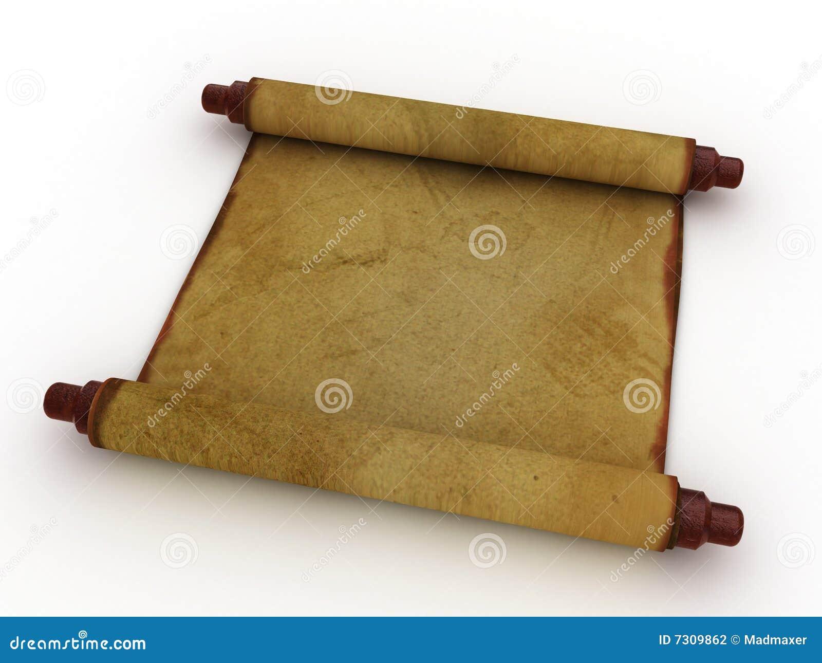 Rotolo di carta antico