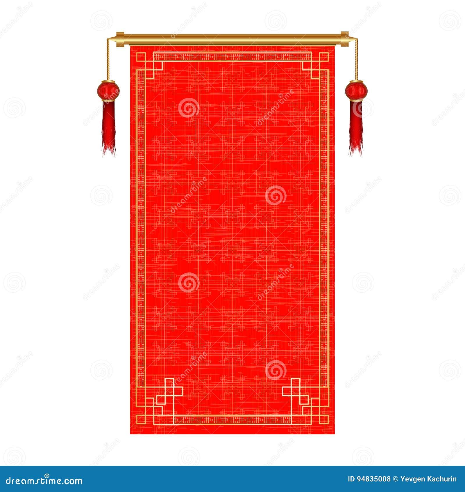Rotolo rosso asiatico tradizionale