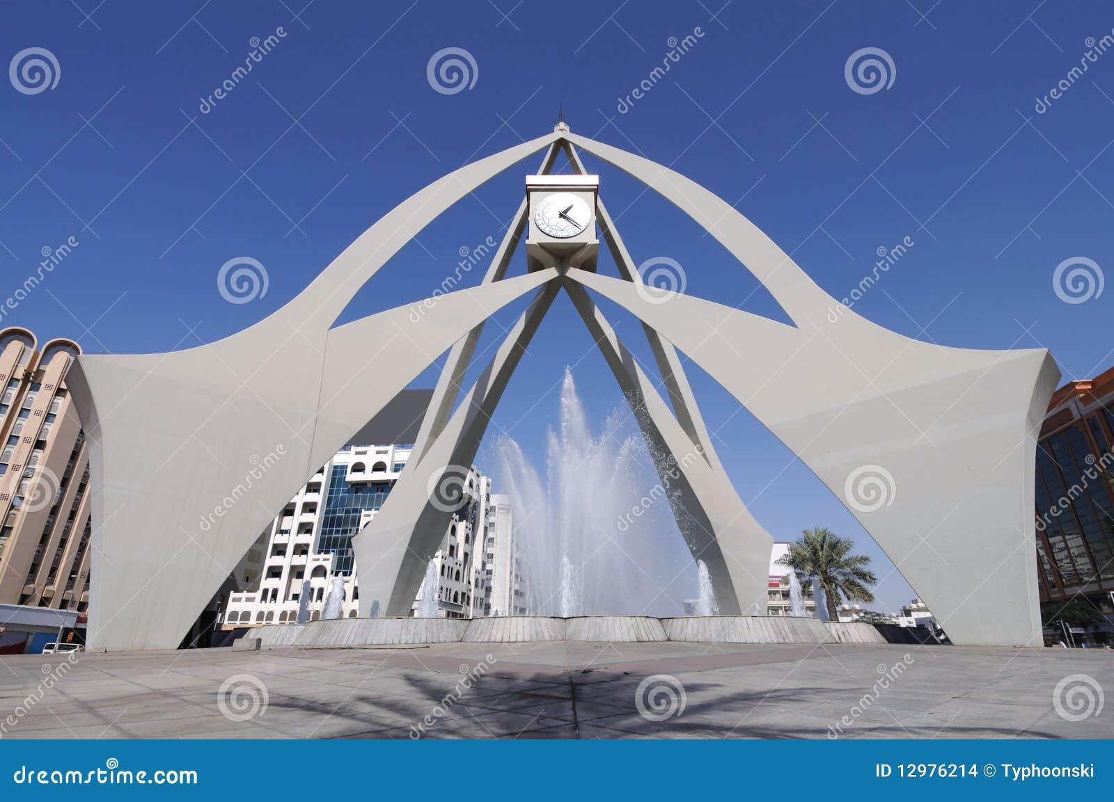 Rotonda dell orologio della torretta in Doubai