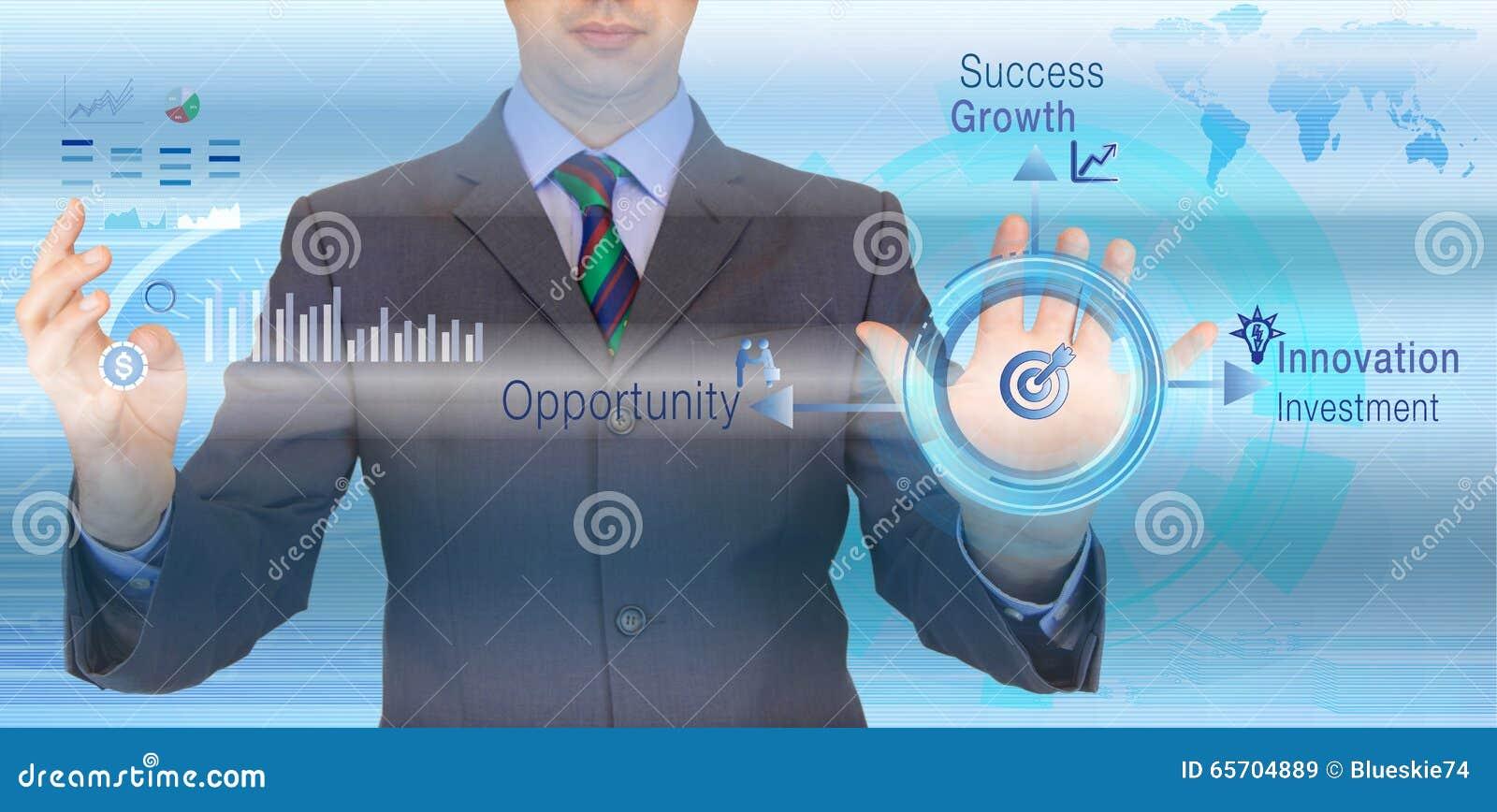 Rotonda di successo di affari
