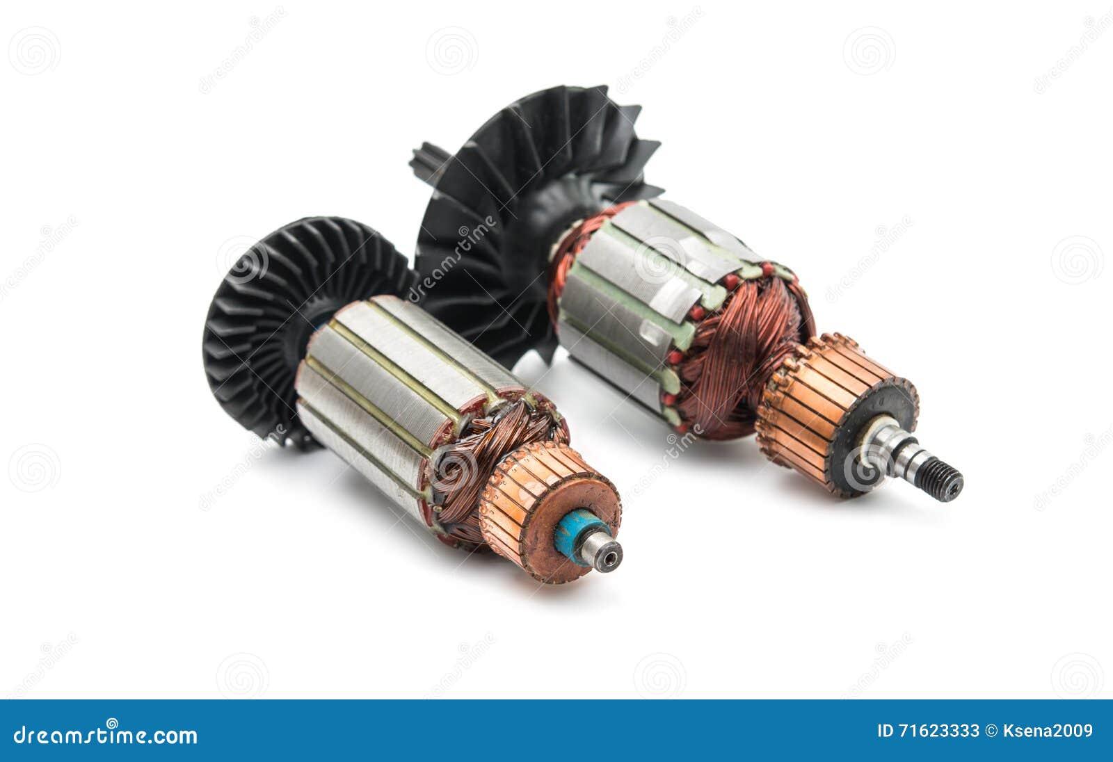 Rotor do motor bonde isolado