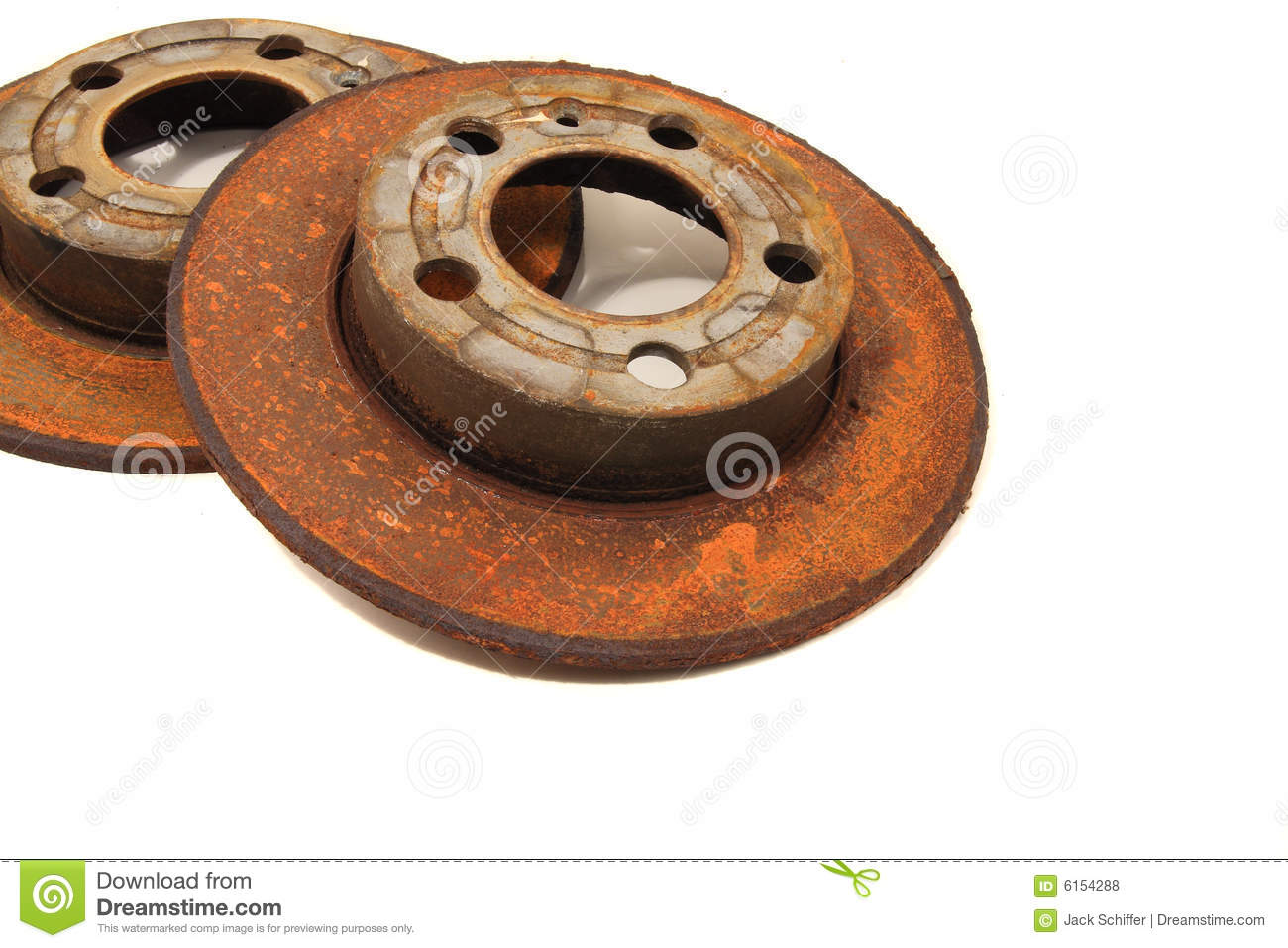 how to clean rusty rotors
