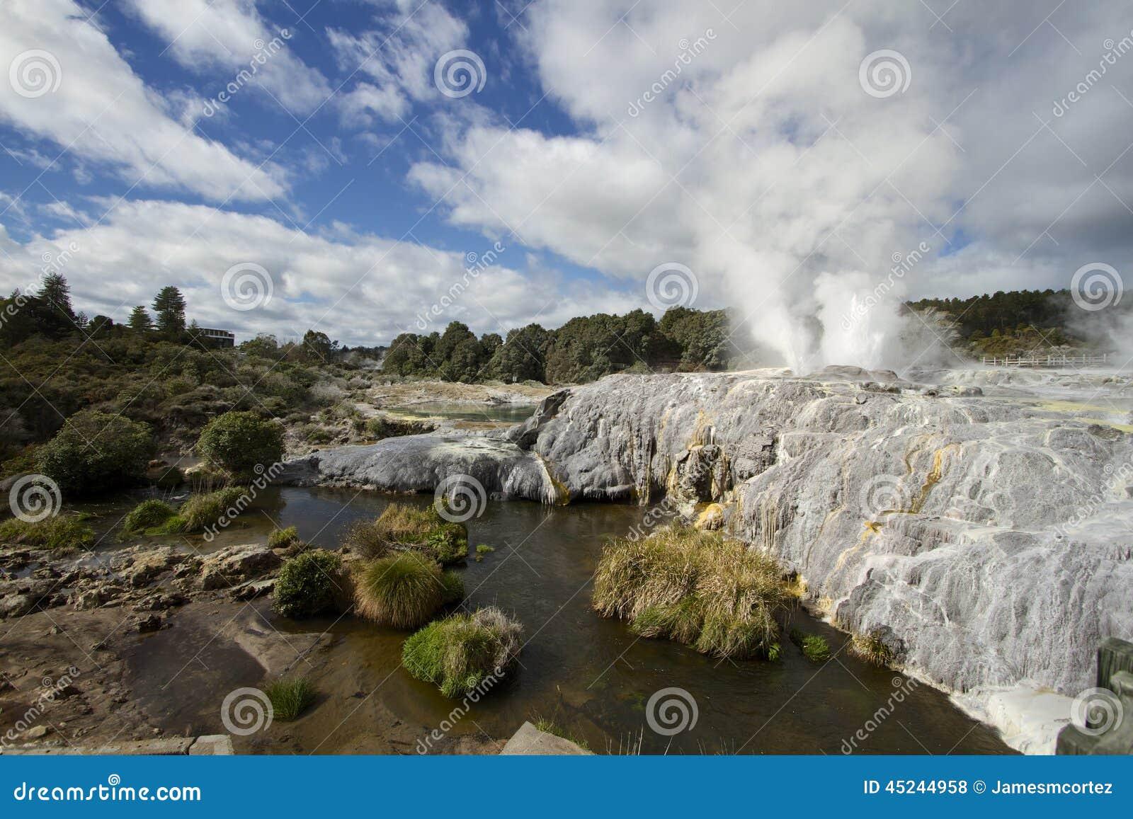 New Zealand Time Image: New Zealand, Rotorua Stock Image