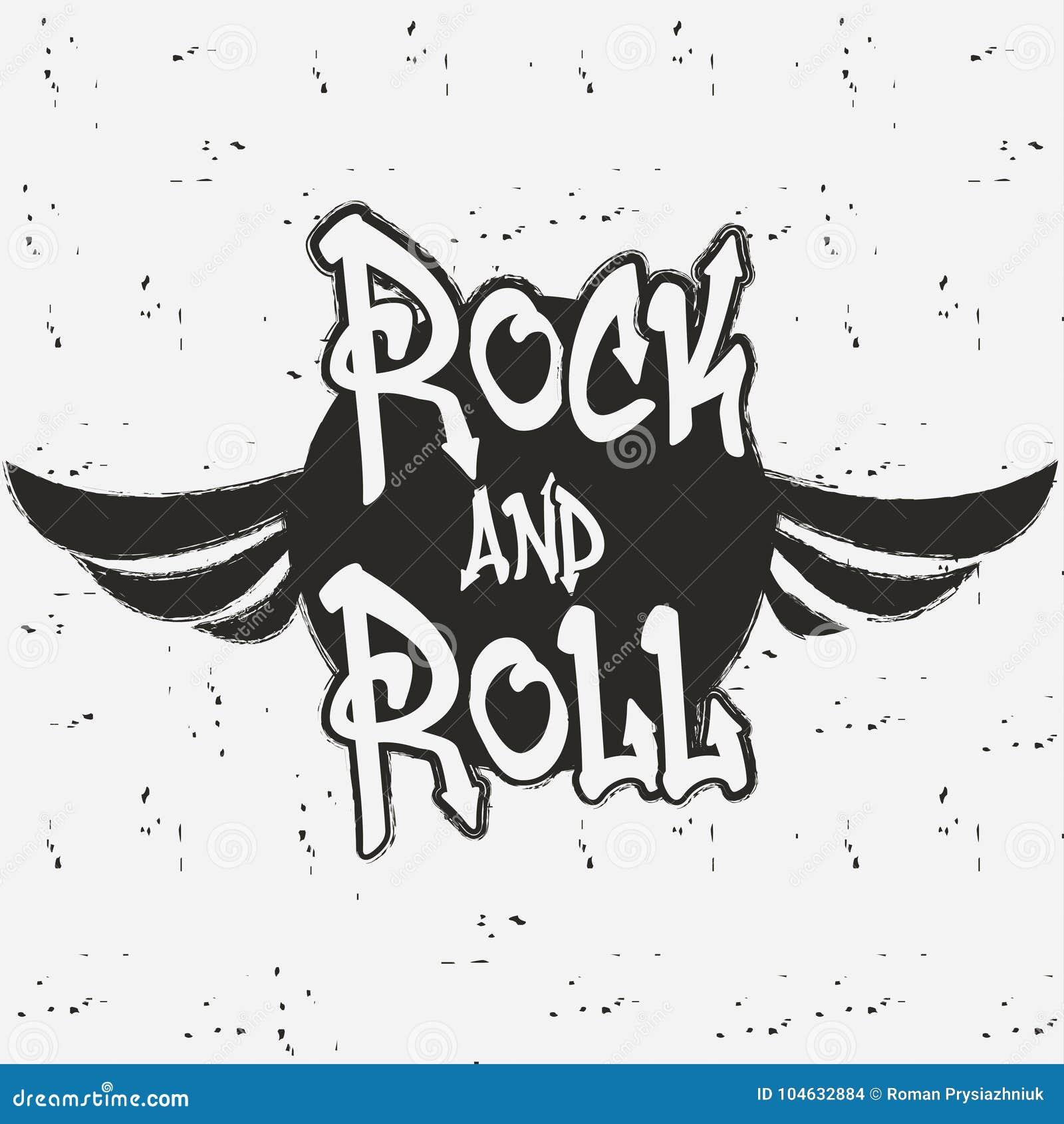 Download Rots - En - Broodje Rock Grafisch Voor Druk Vector Illustratie Vector Illustratie - Illustratie bestaande uit banner, handwritten: 104632884