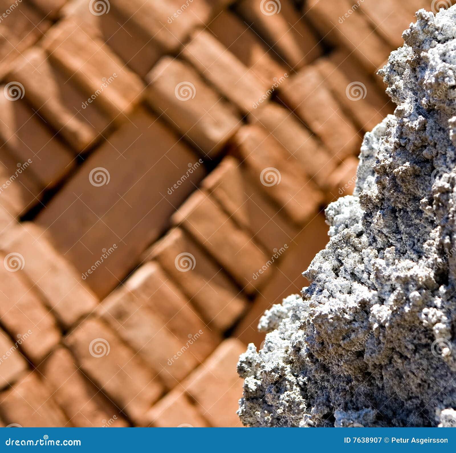 Rots met baksteenachtergrond