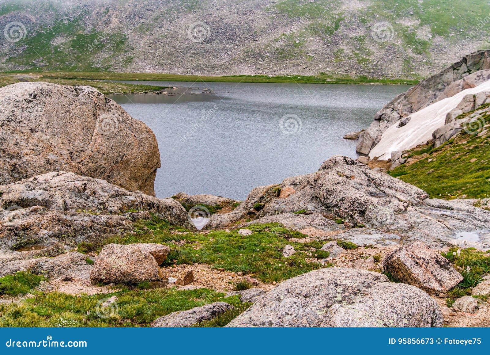 Rotsachtige MT Evans Colorado van het berglandschap