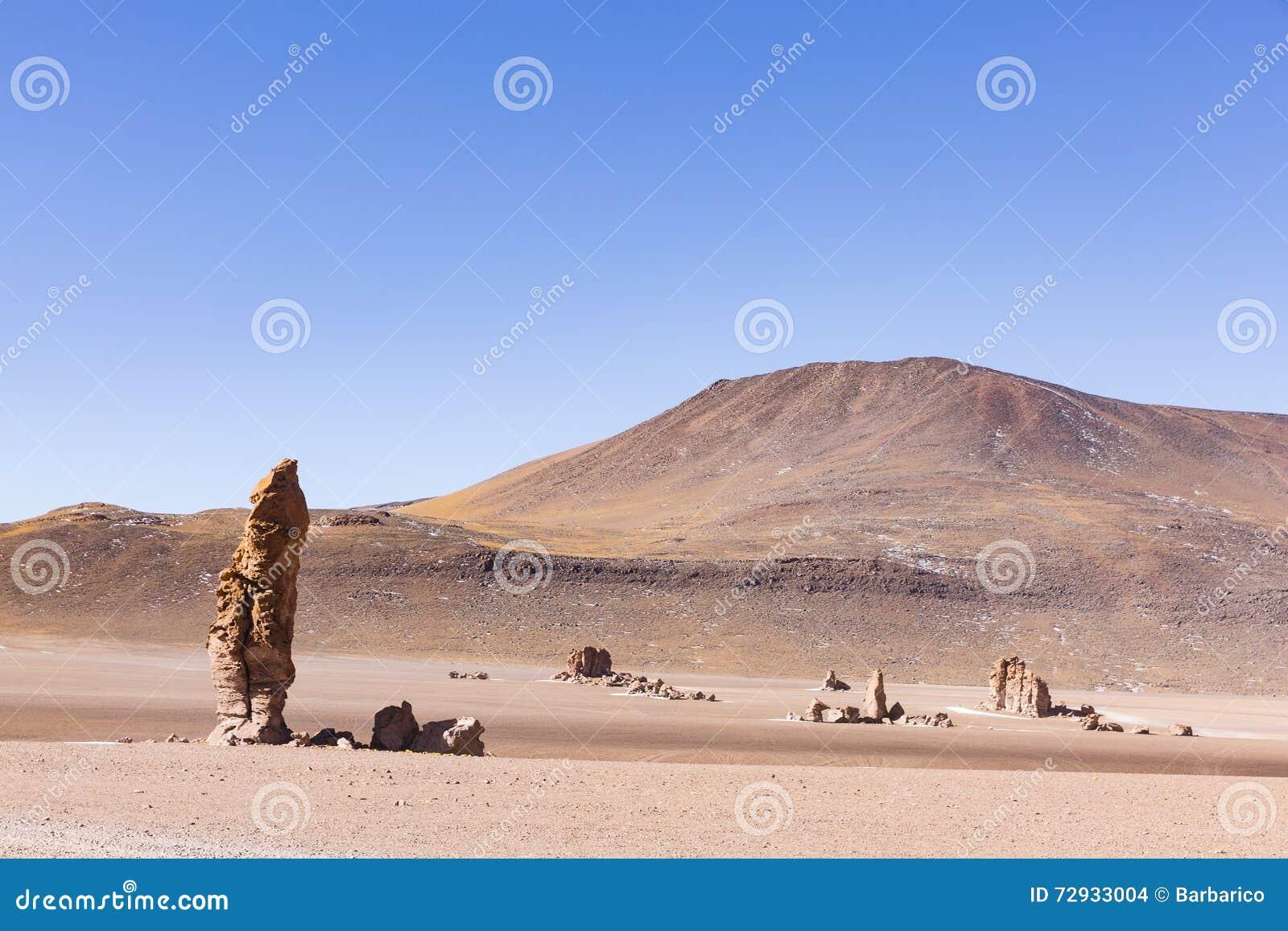 Rotsen en woestijn in Los Flamenco s Nationale Reserve