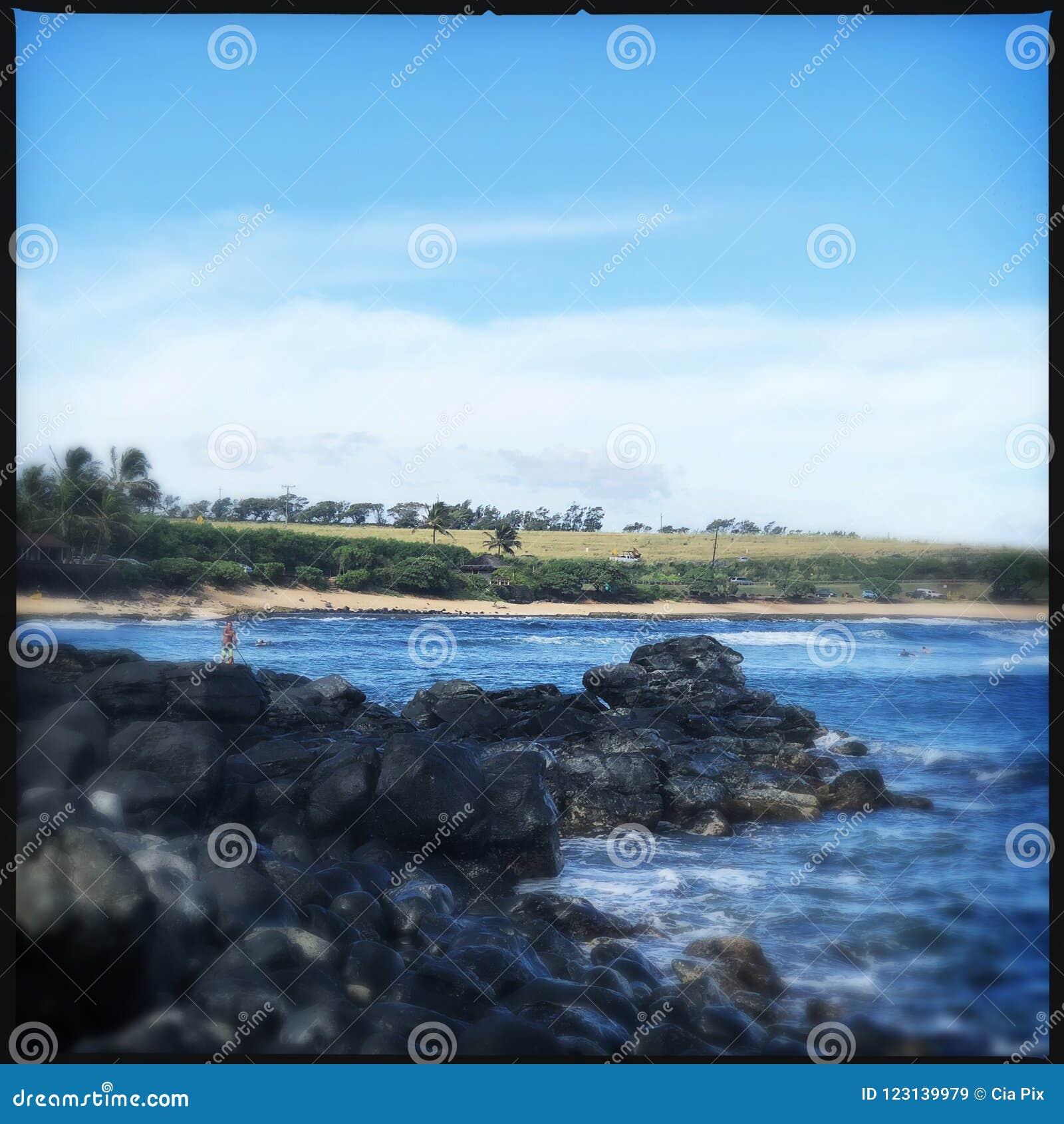 Rotsen op Haleakala-strand