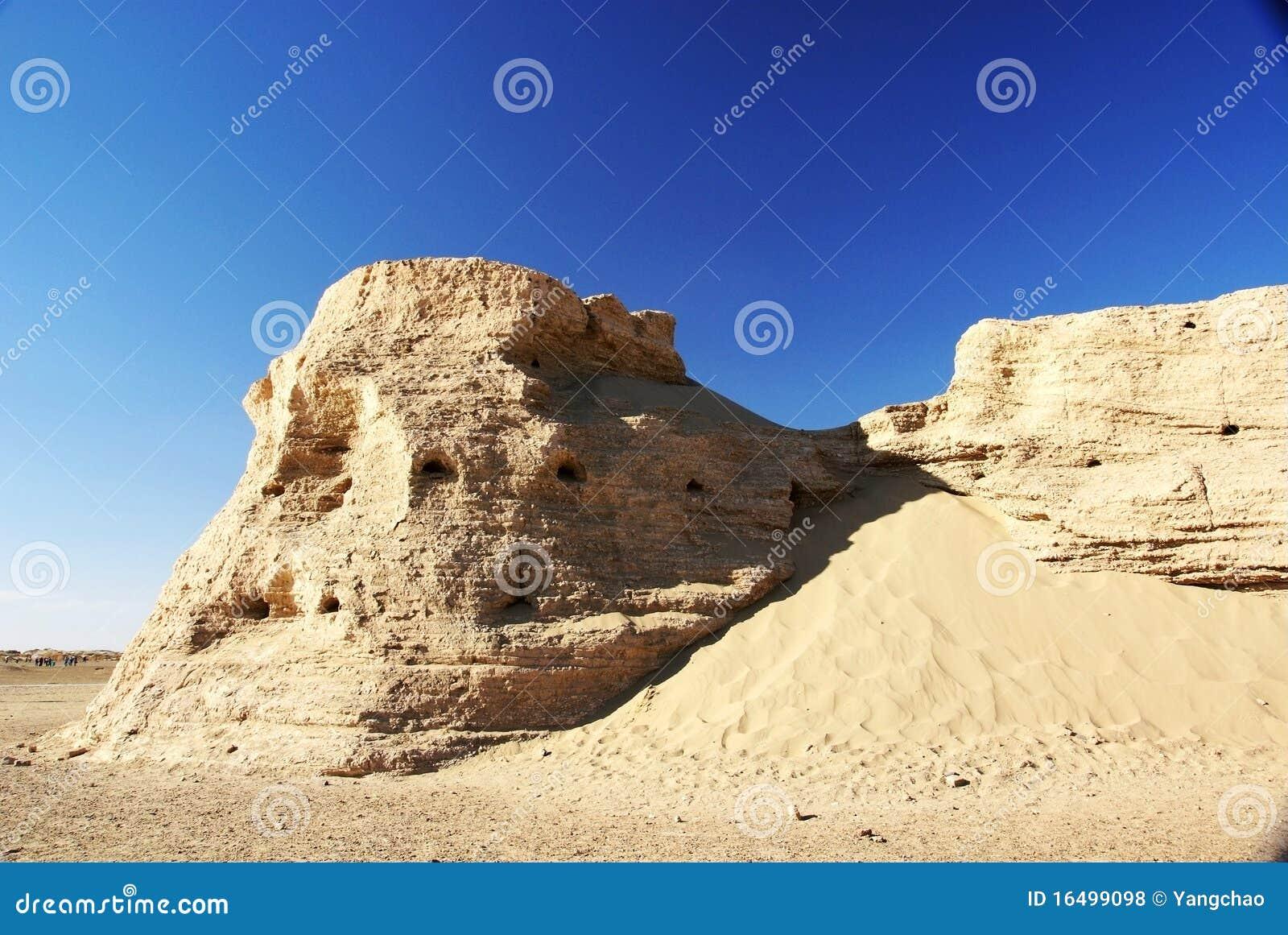 Rotten ancient city wall