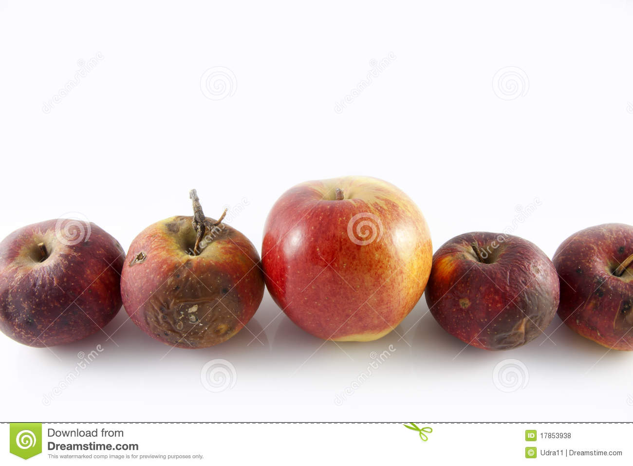Rotten apples and good