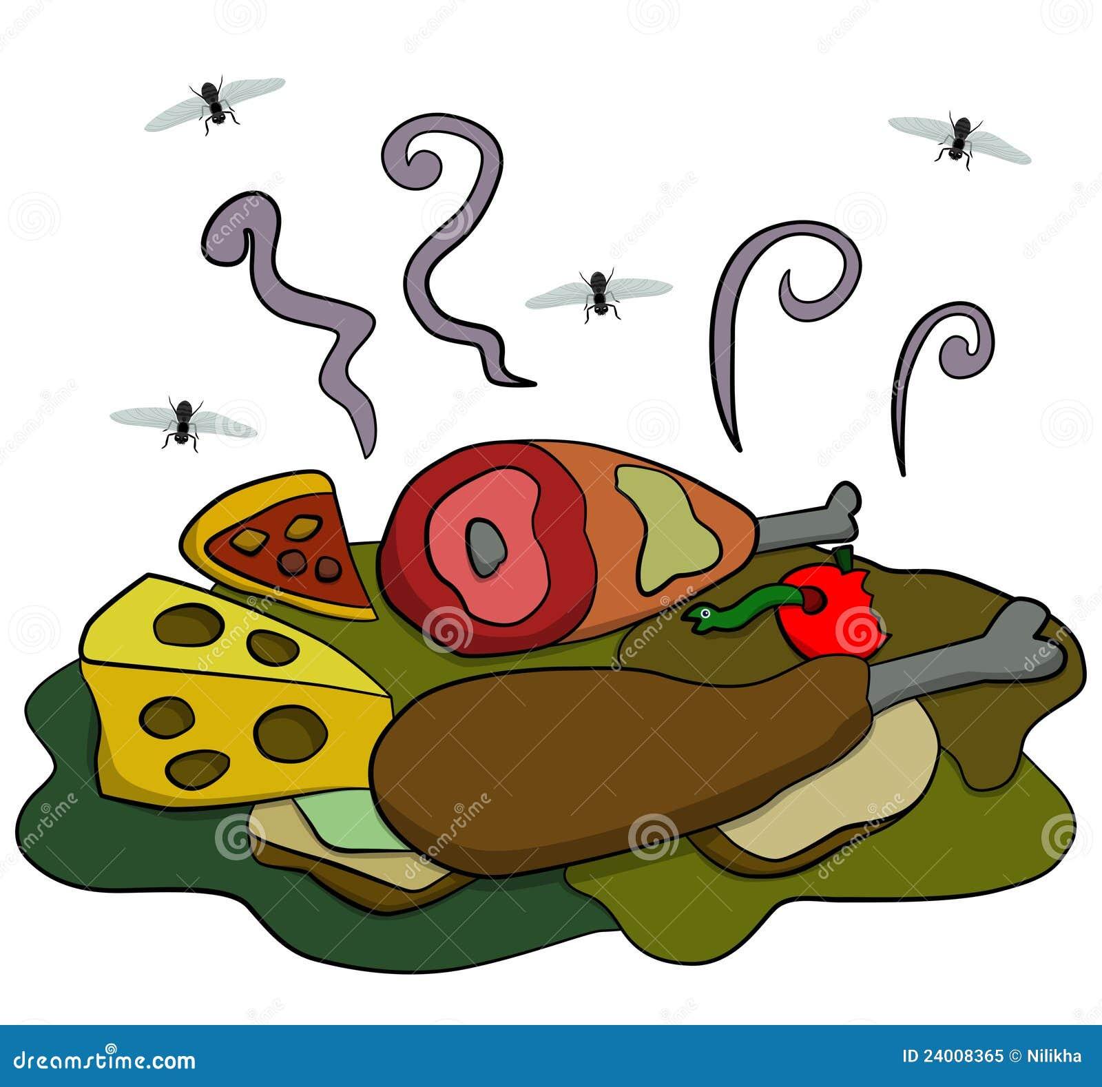 Rotten food stock illustration. Illustration of waste ...