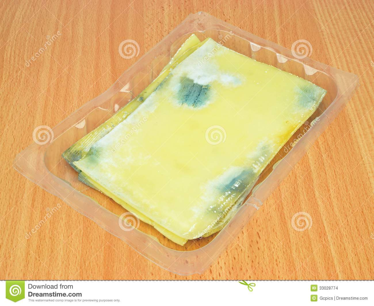 Rotten Slices Of Cheese Stock Images - Image: 33028774
