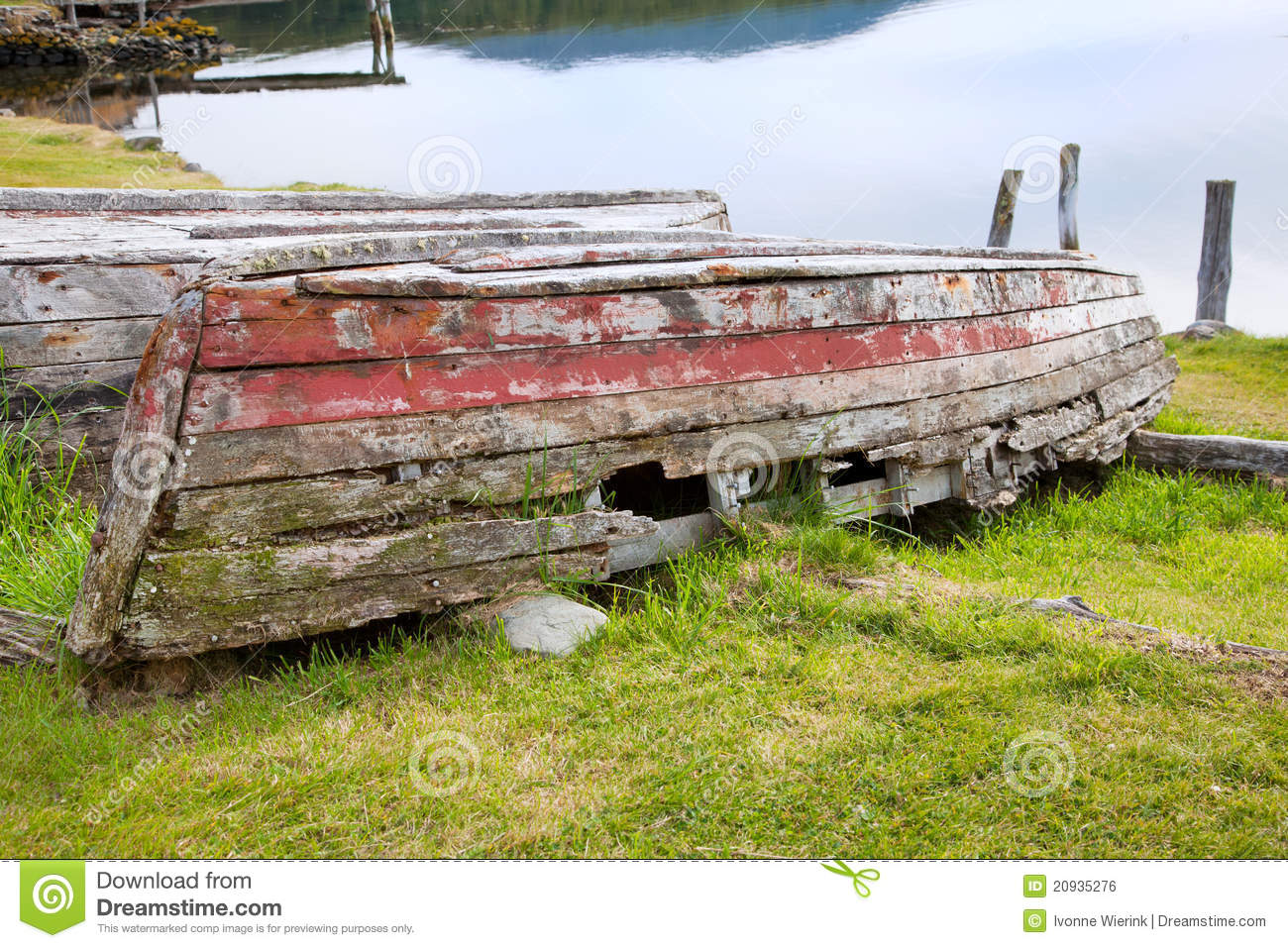 Rotten Wooden Row Boat Royalty Free Stock Image - Image: 20935276