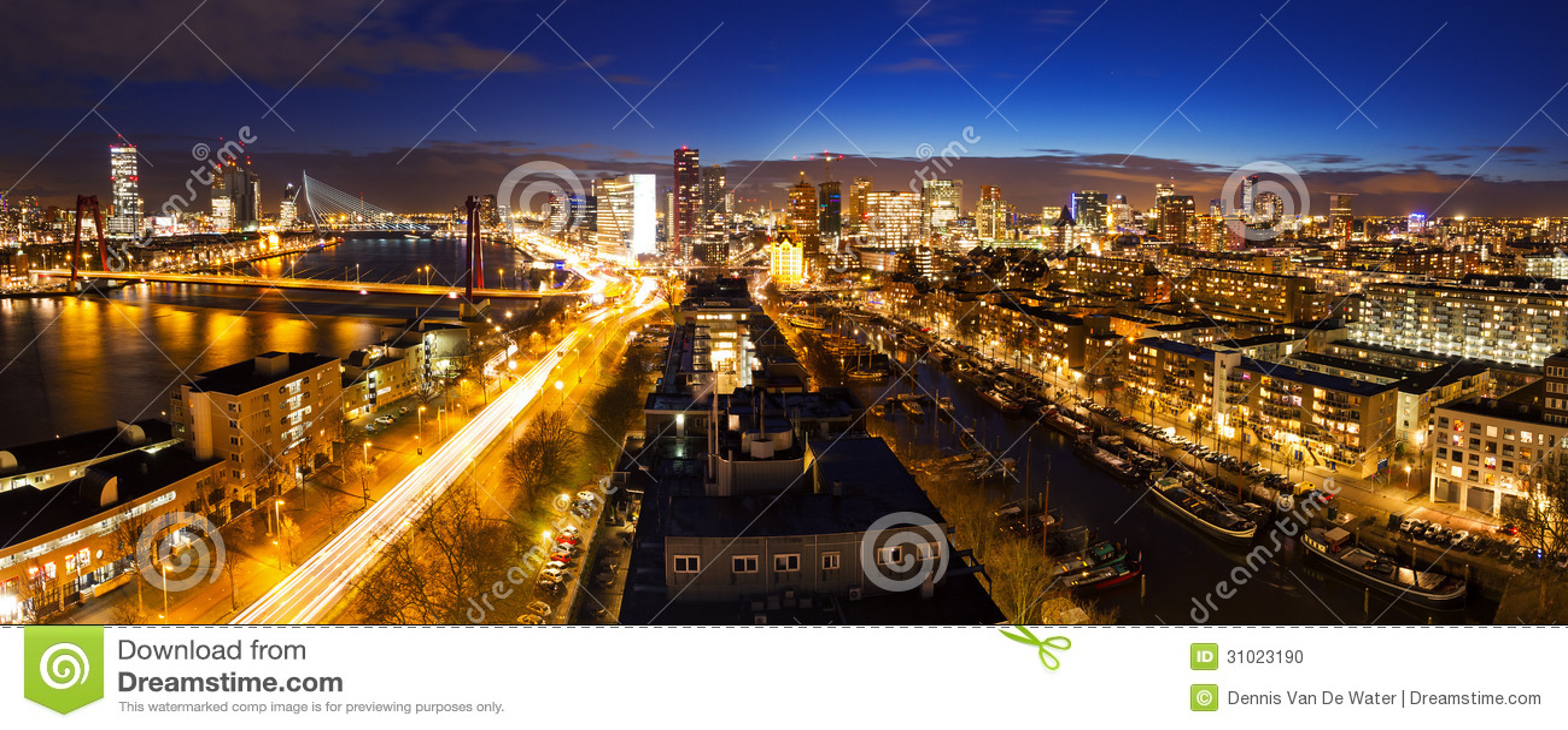 Rotterdam-Nachtskyline