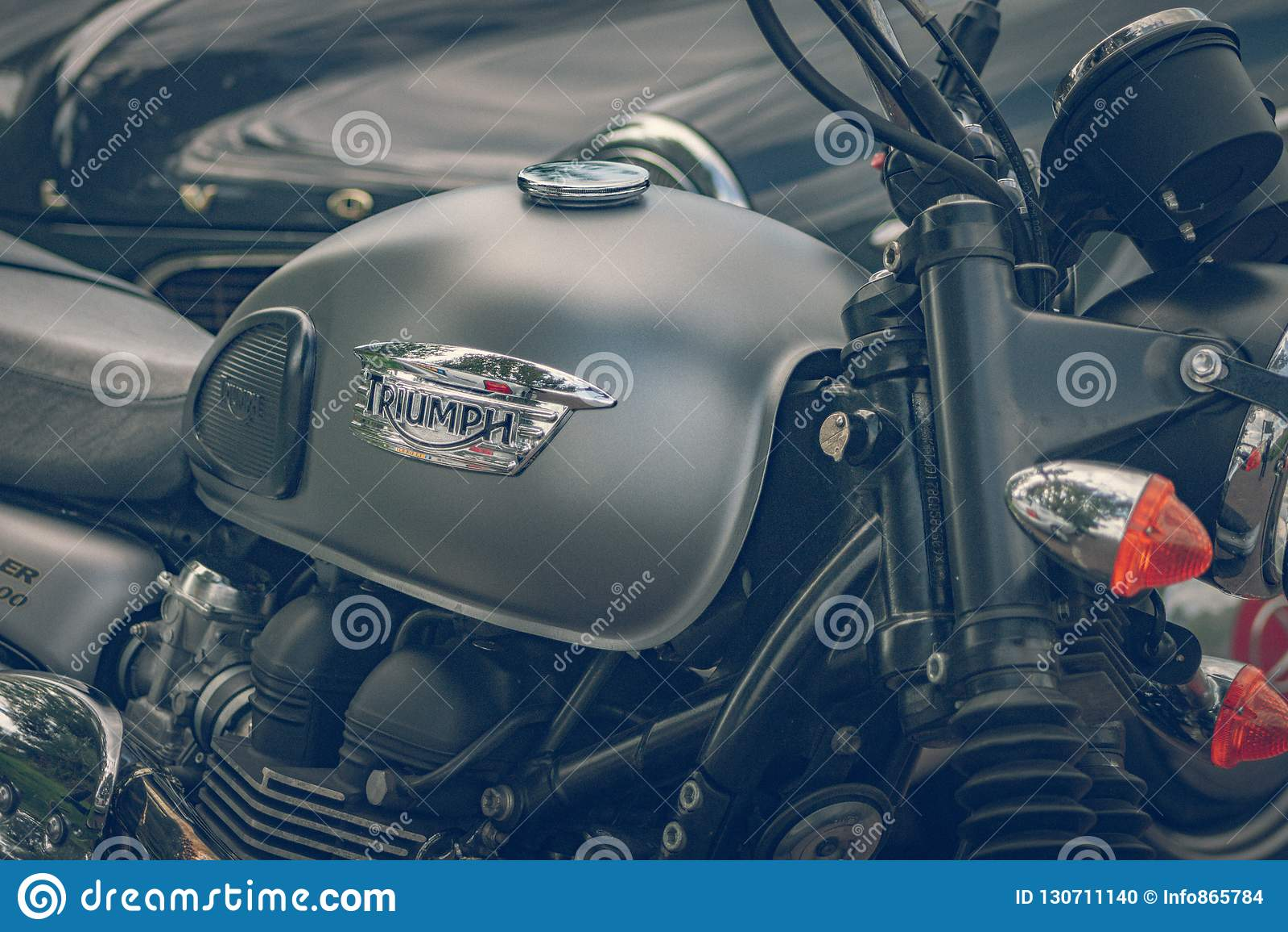 ROTTERDAM, NEDERLAND - SEPTEMBER 2 2018: De motorfietsen zijn shini
