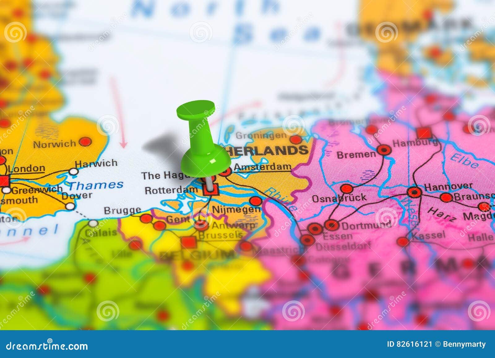 Rotterdam Netherlands Map Stock Image Image Of Macro 82616121