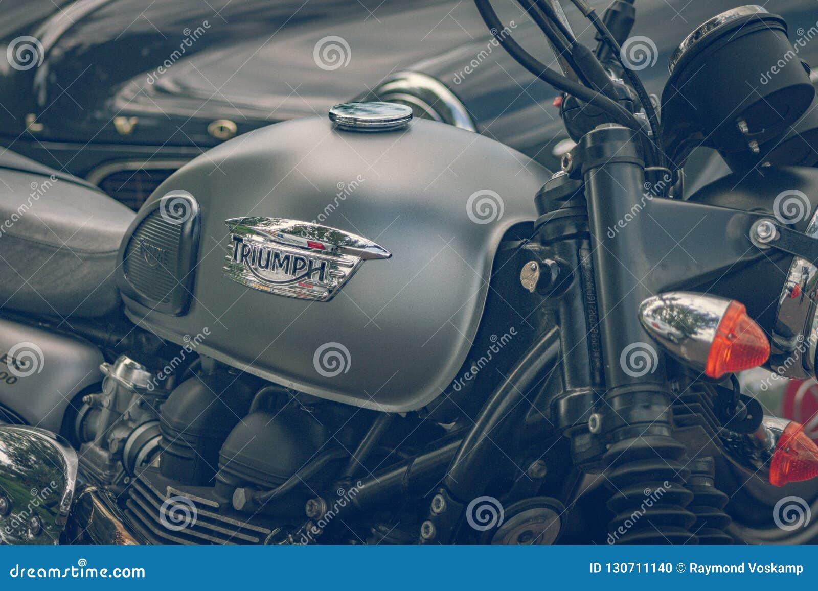 ROTTERDAM, NETHERLANDS - SEPTEMBER 2 2018: Motorcycles are shining at Dutch motor event  Rotterdam Dirt Ride