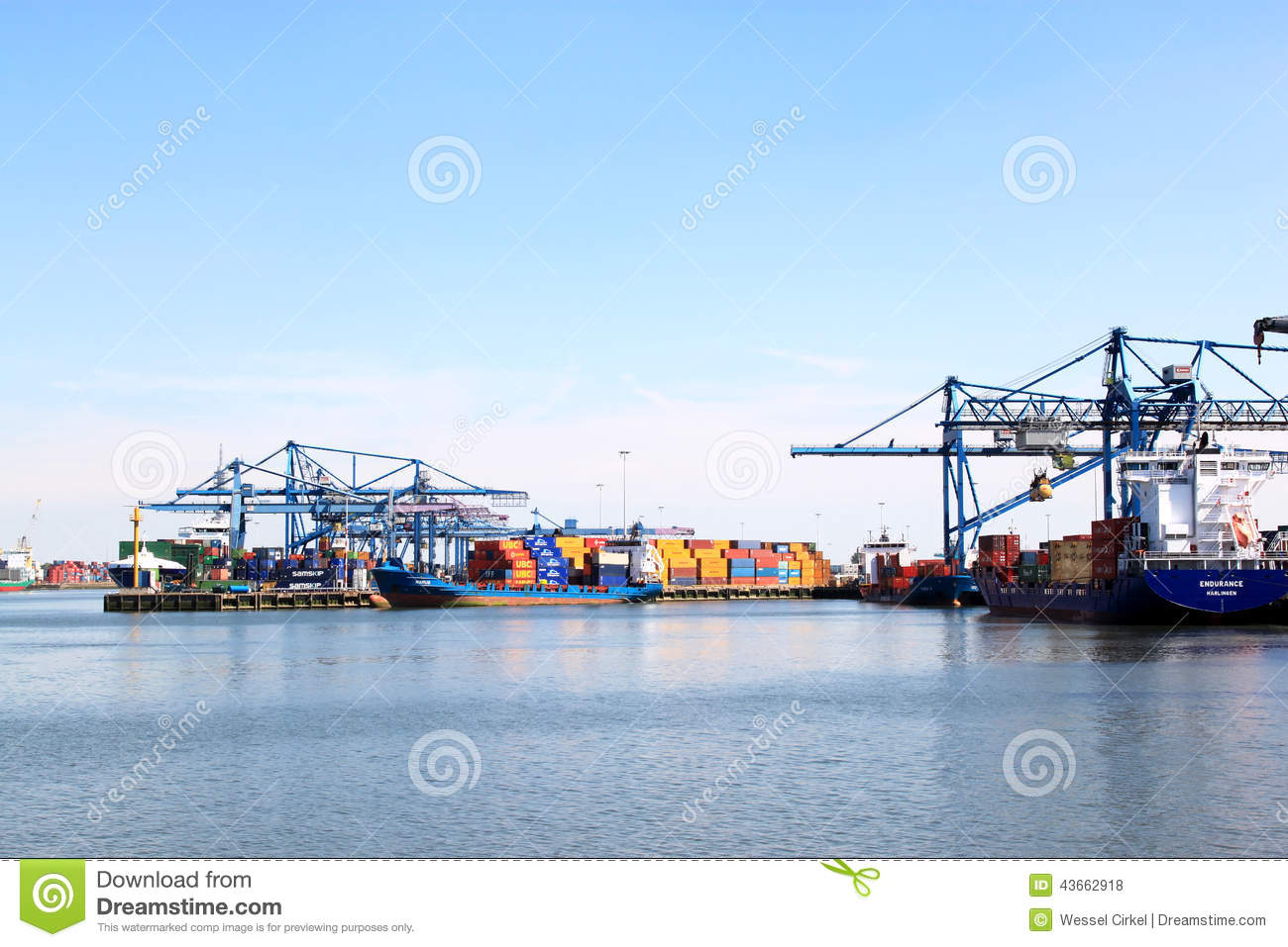 Rotterdam shipping port in the Netherlands