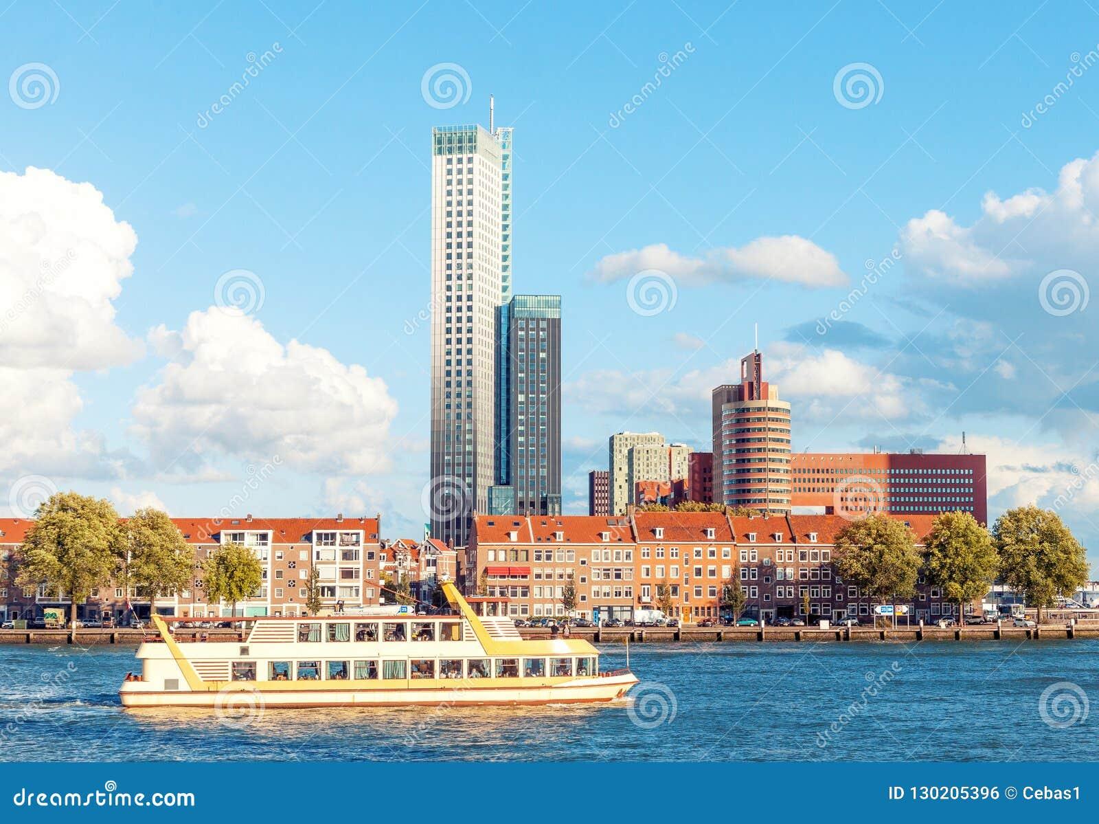 Rotterdam skyline view in Netherlands
