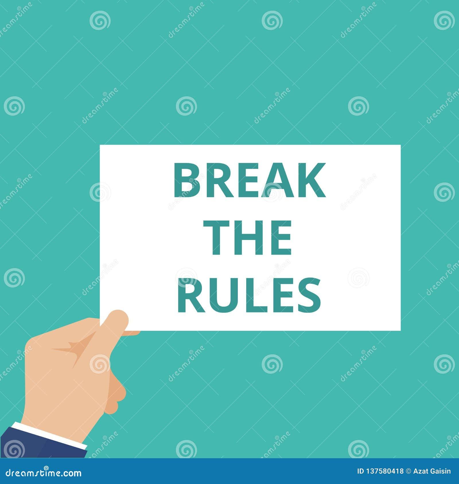 Rottura del testo di scrittura di parola le regole