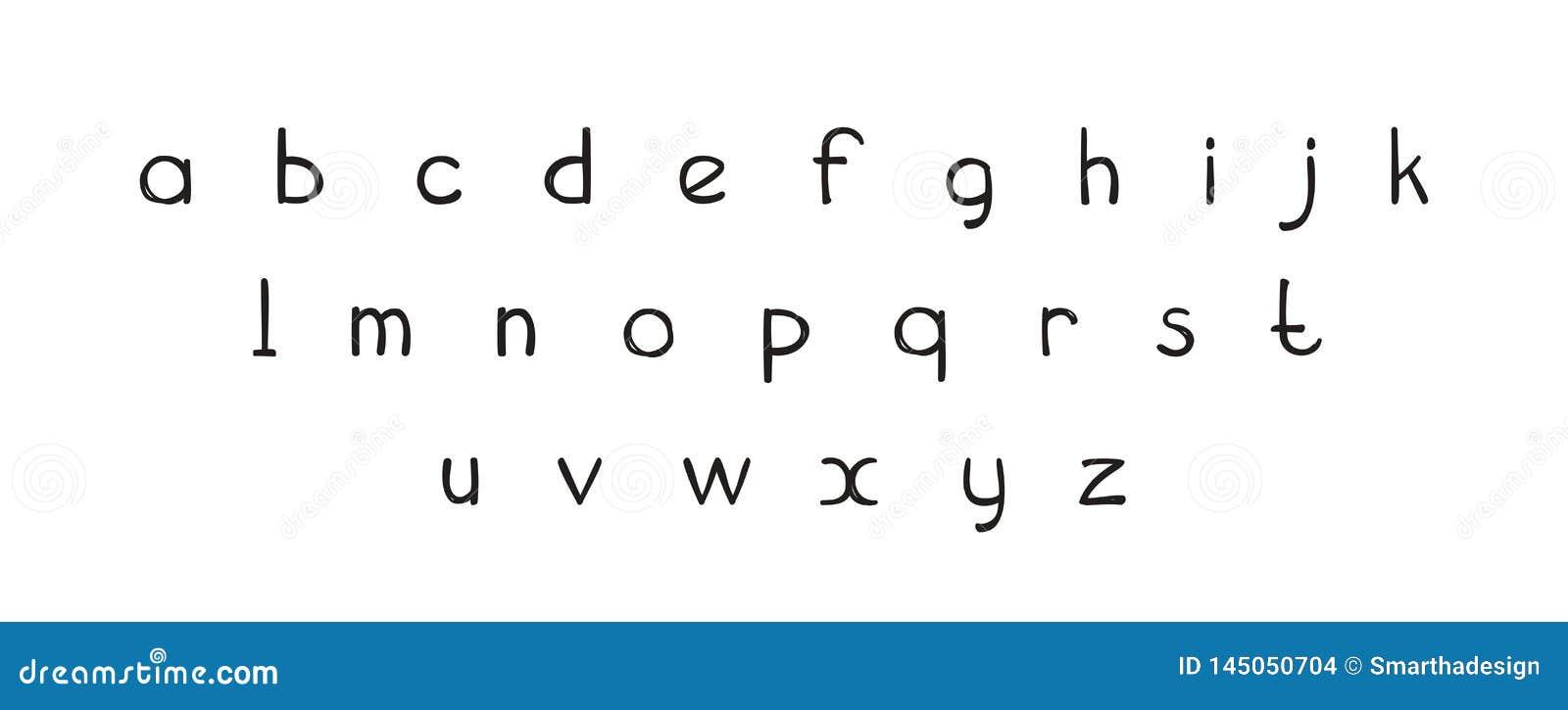 Rotula??o tirada de ABC da fonte m?o decorativa, letras do alfabeto Projeto tipogr?fico escrito ? m?o Letras corajosas engra?adas