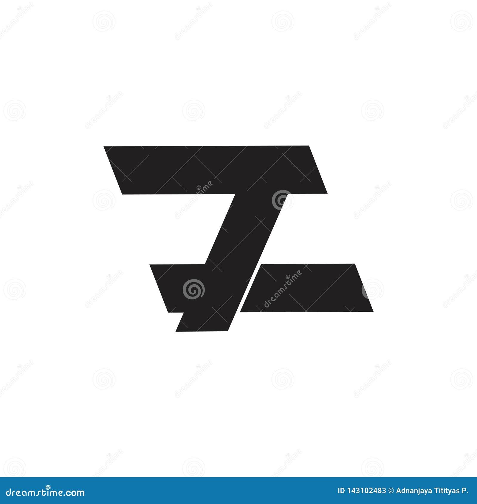 Rotula o vetor geométrico simples do logotipo de 7 z