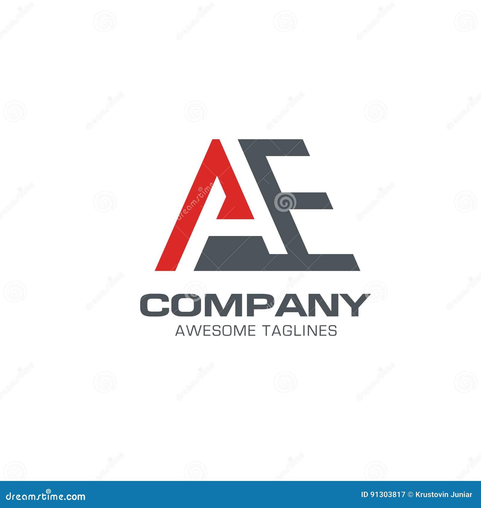 253f43b4d O vetor moderno do logotipo do esporte da AE da letra ativa forte
