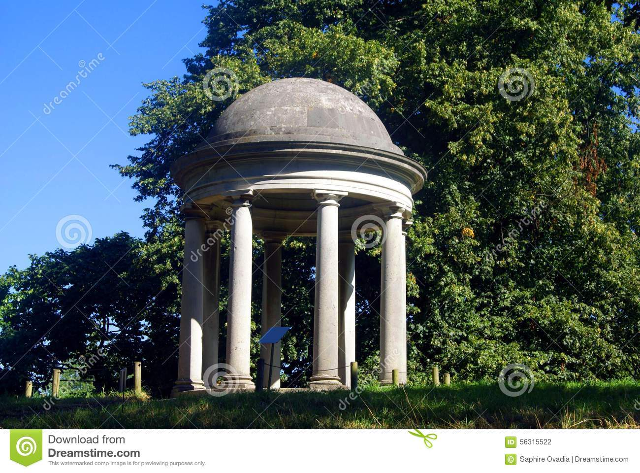 The rotunda is a temple, mausoleum or arbor 24