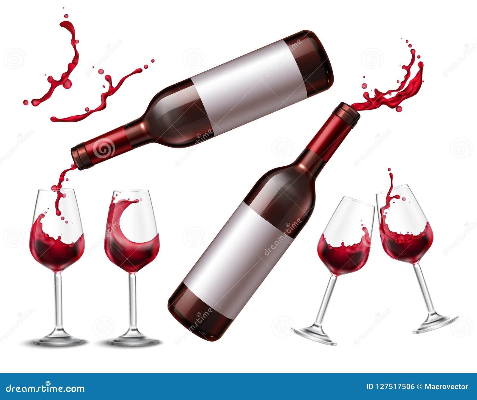 Rotwein-Spritzen-Sammlung