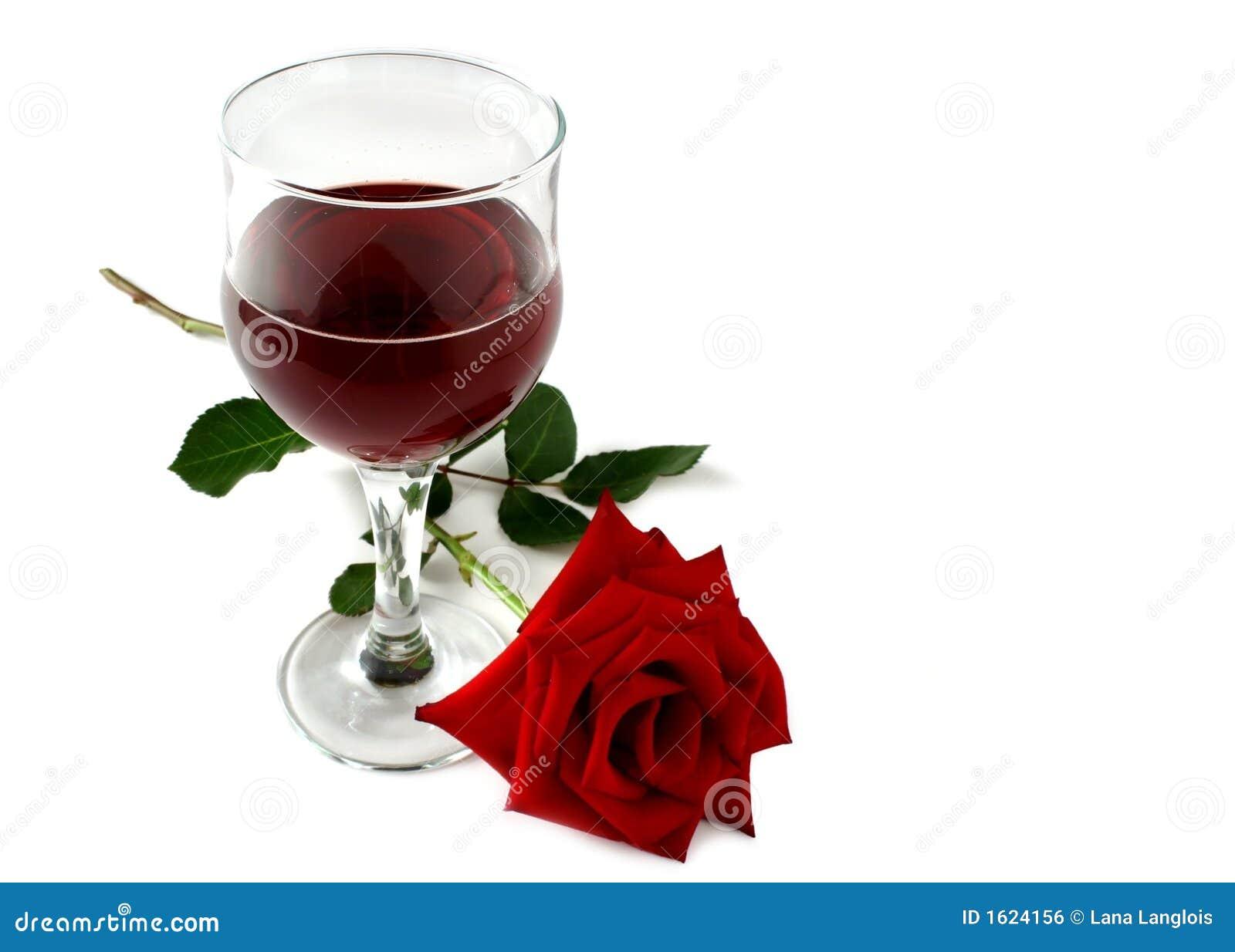 Rotwein und stieg