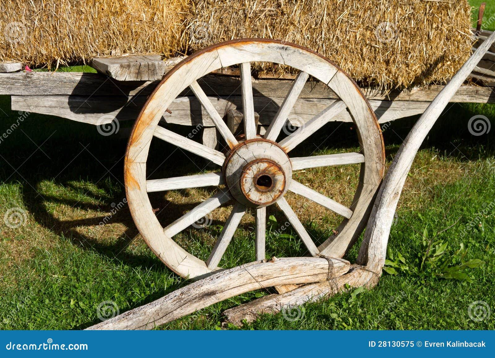 Roue d un chariot de foin