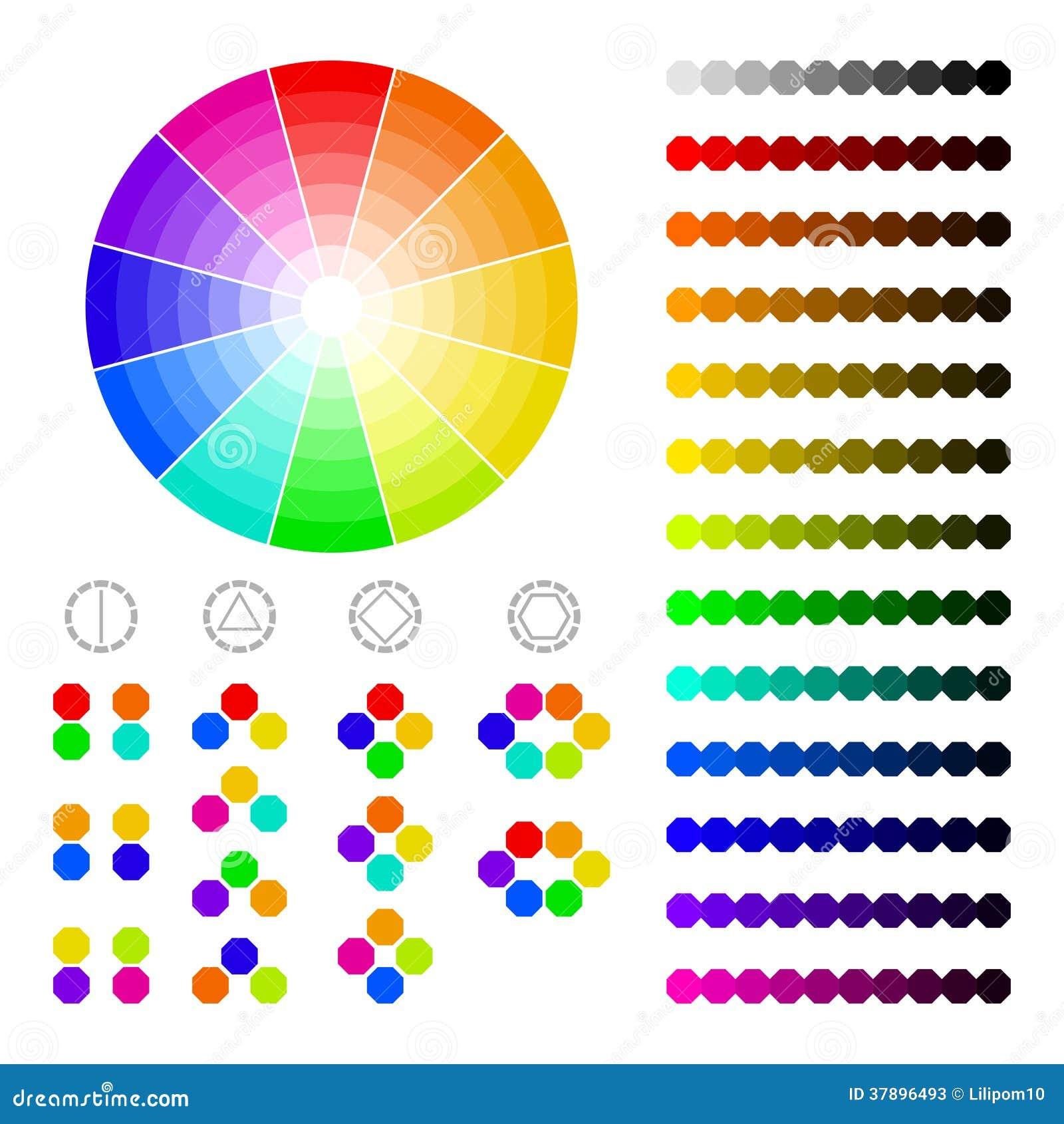 roue de couleur avec l 39 ombre de couleurs harmonie de. Black Bedroom Furniture Sets. Home Design Ideas