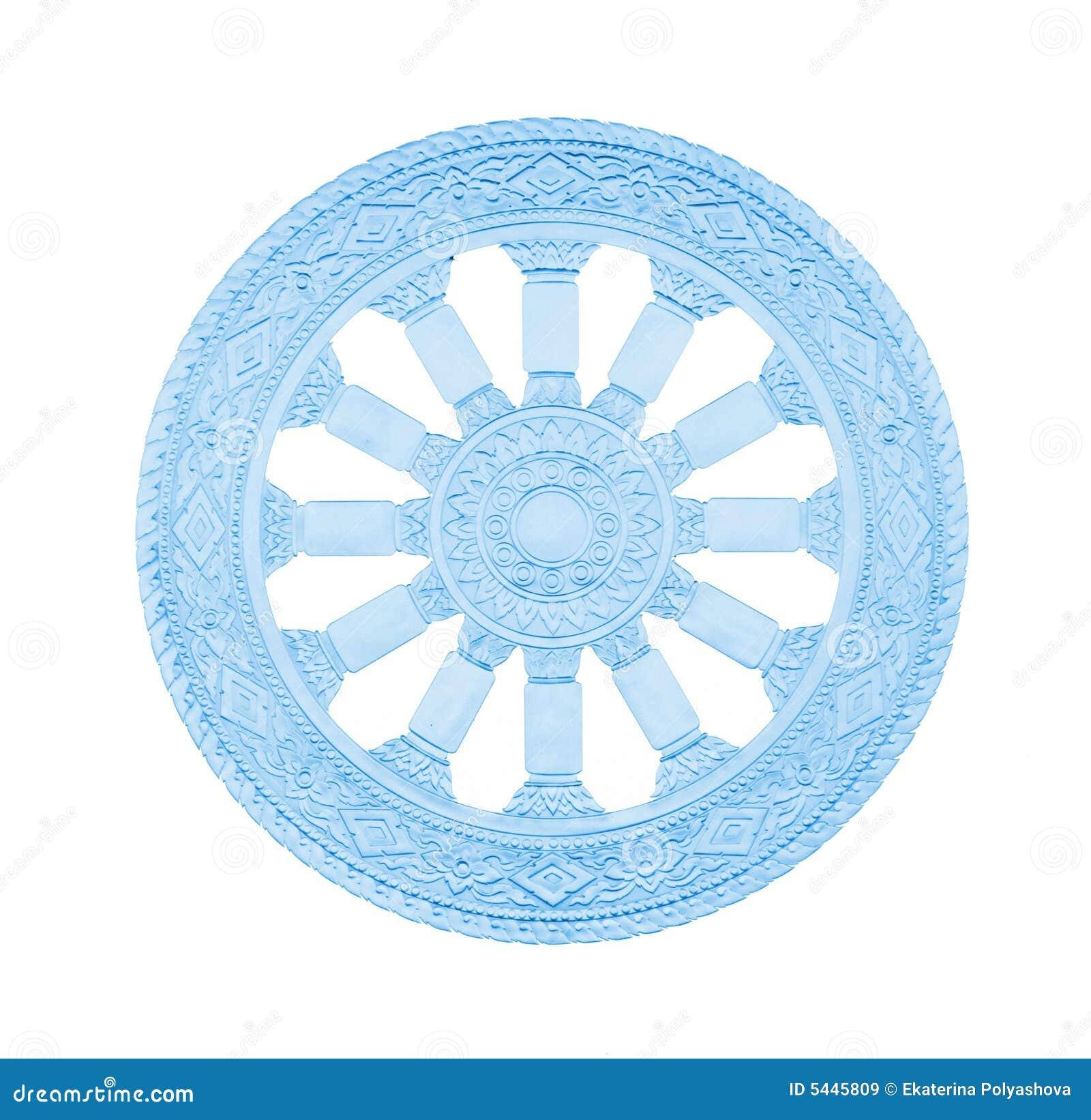 roue de symbole de bouddhisme de dur e images libres de droits image 5445809. Black Bedroom Furniture Sets. Home Design Ideas