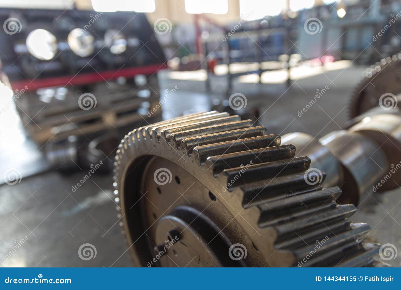 Roue de vitesse en acier industrielle