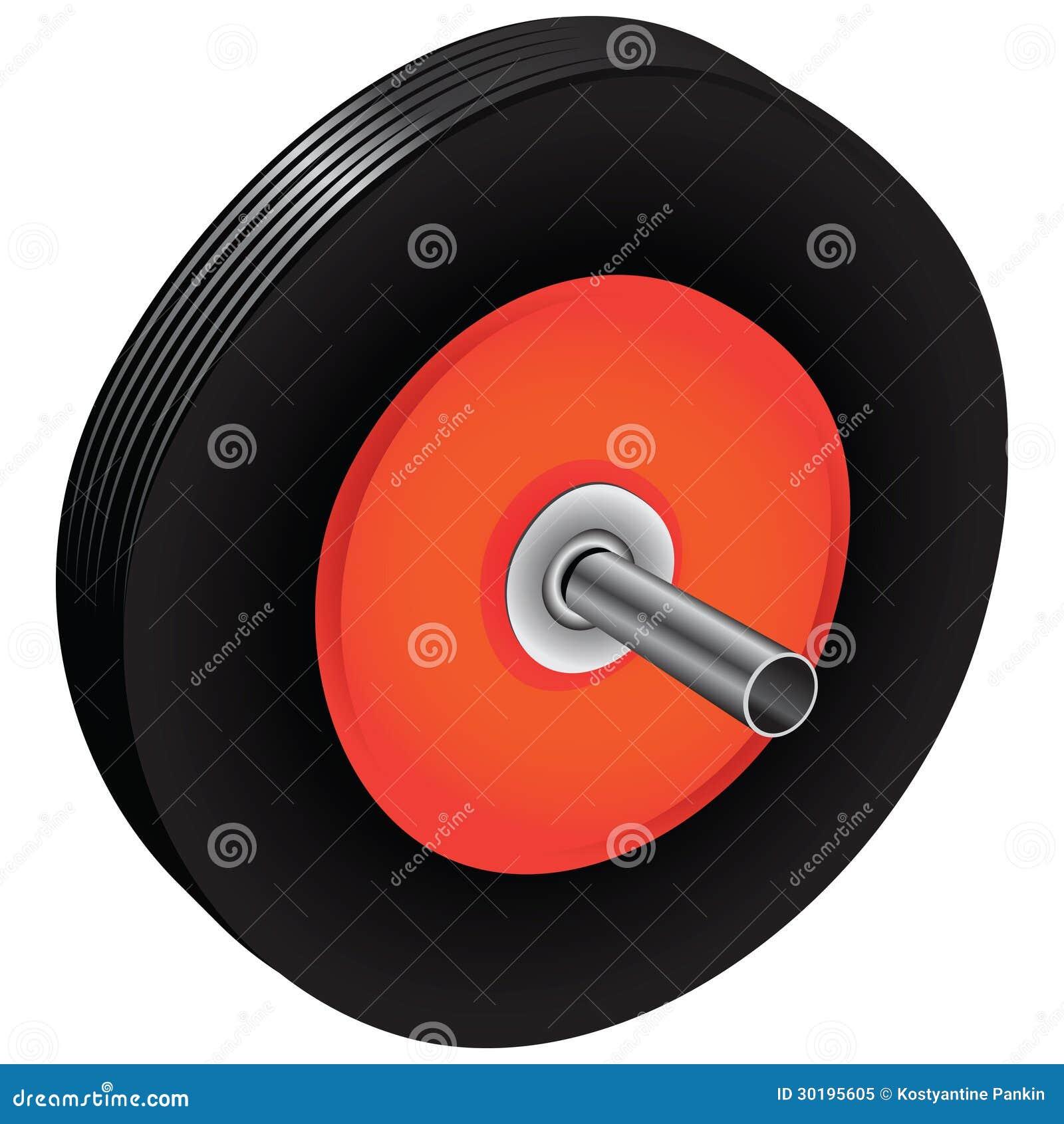 roue en caoutchouc pour la brouette illustration de vecteur illustration du rond dessin 30195605. Black Bedroom Furniture Sets. Home Design Ideas