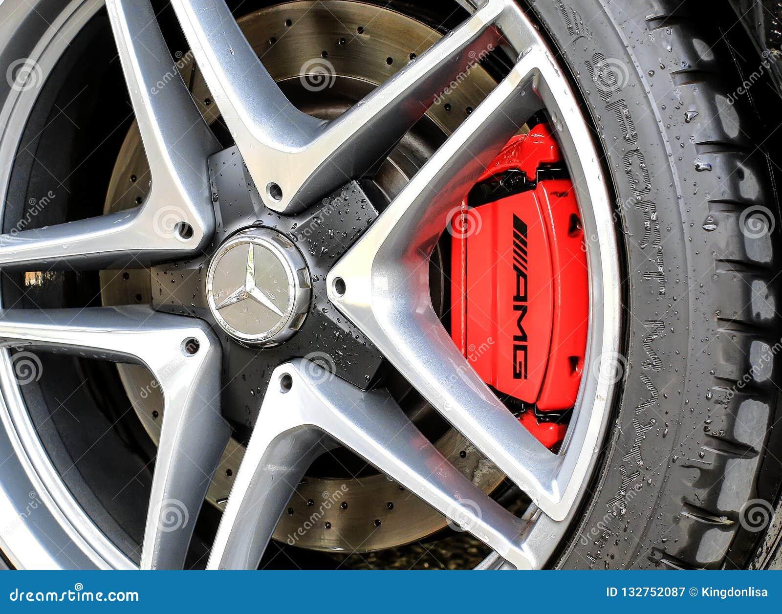 Roue 2015 et frein de Mercedes-Benz C63S AMG