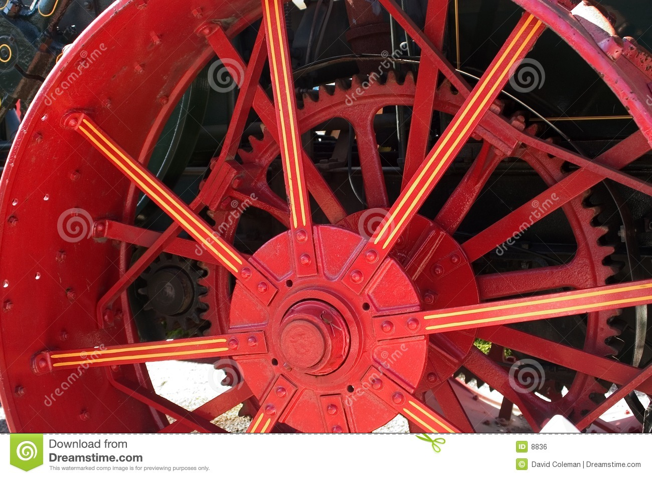 Roue rouge