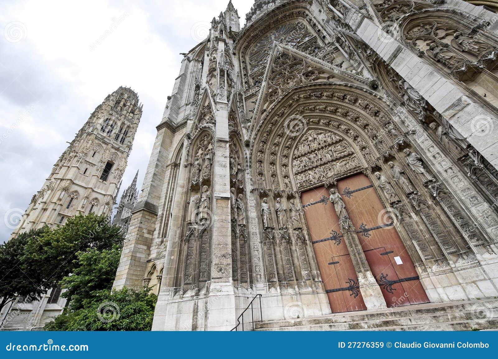 Rouen - domkyrkayttersida