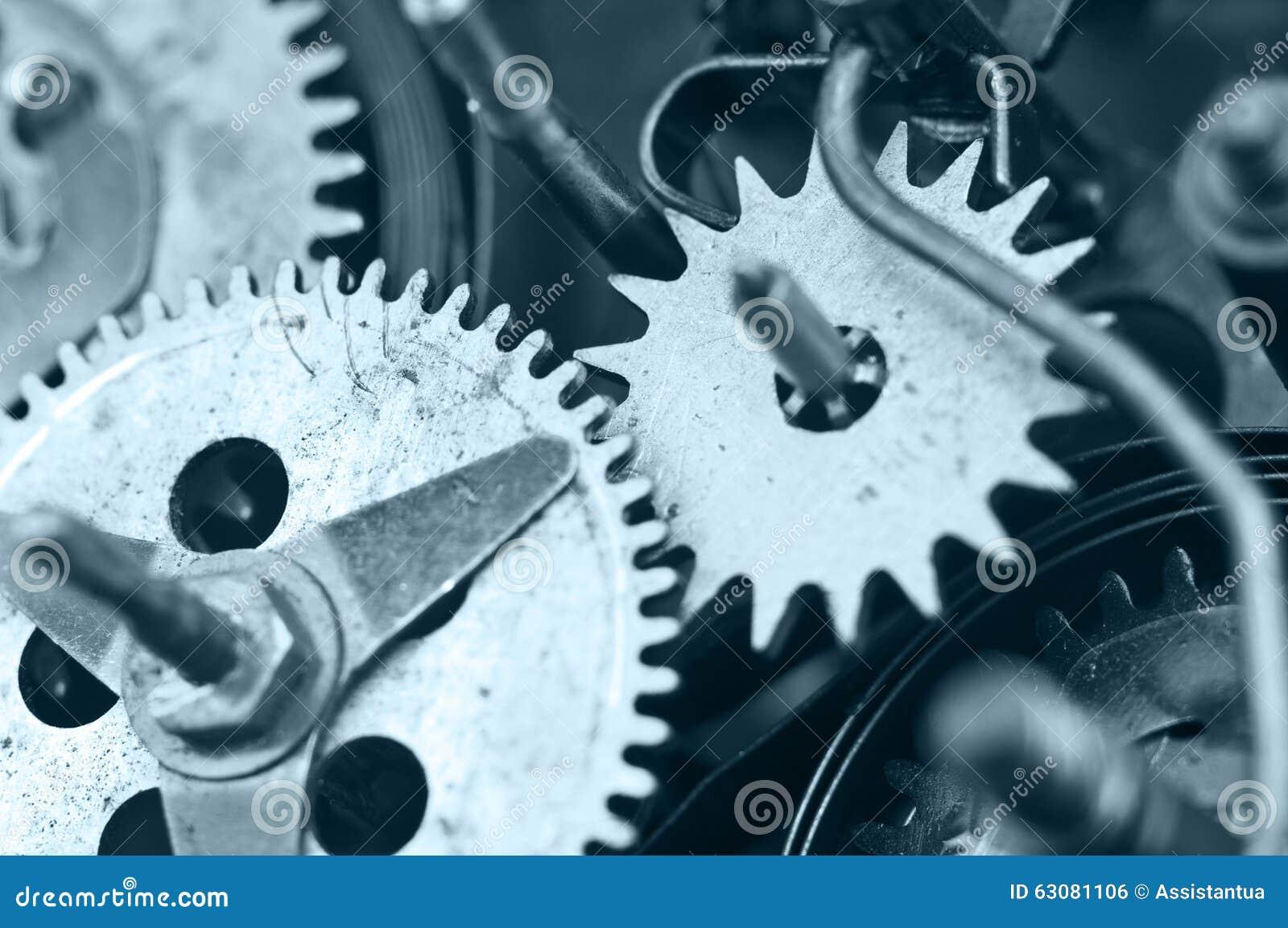 Download Roues Dentées à L'intérieur De Mécanisme D'horloge Macro Photo stock - Image du façonné, matériel: 63081106