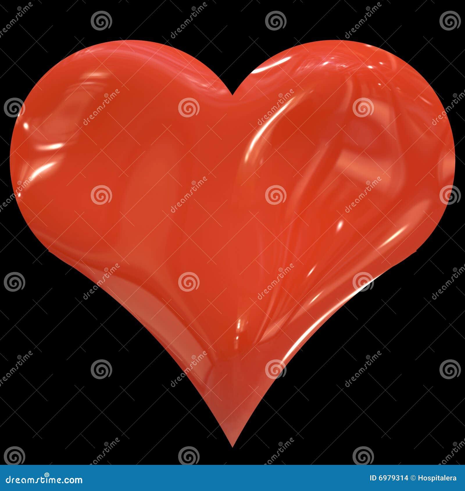 Rouge énorme de coeur