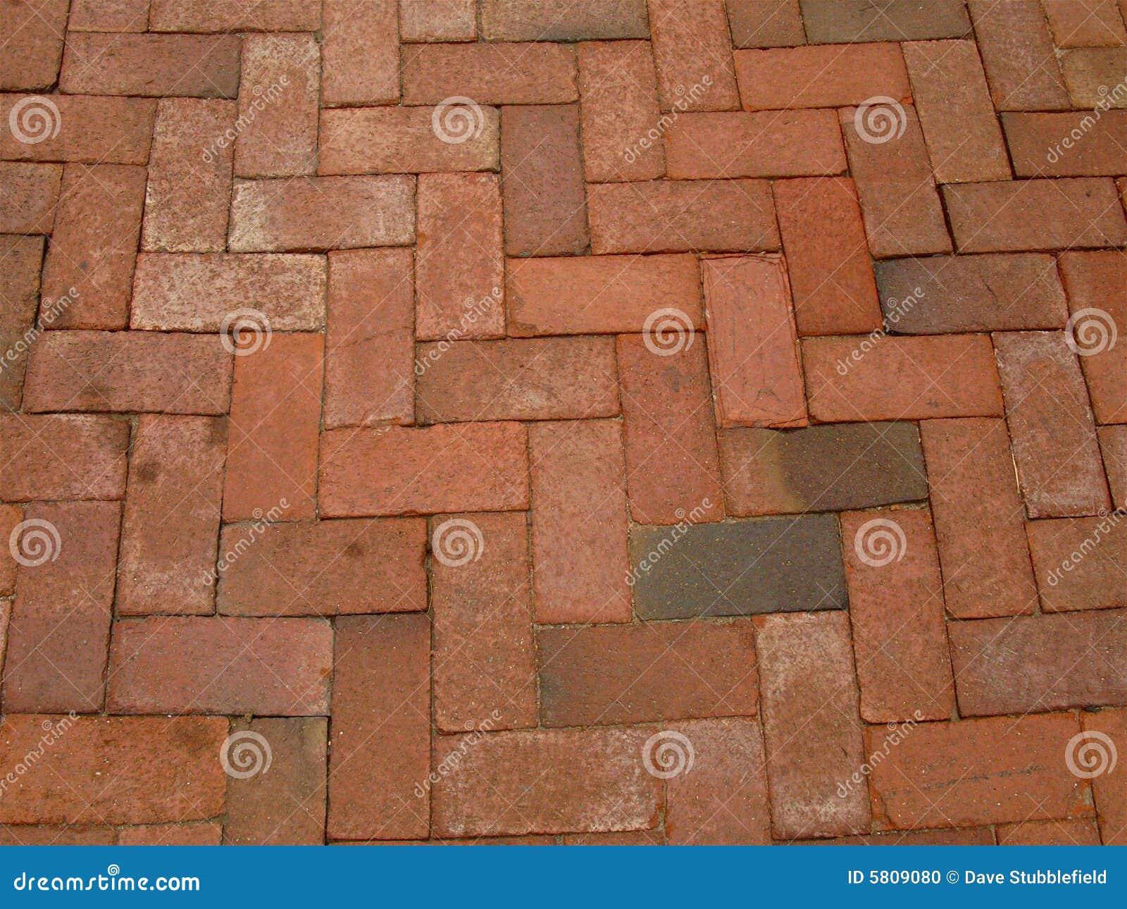 rouge brique trottoir photo stock image du brique fond 5809080. Black Bedroom Furniture Sets. Home Design Ideas