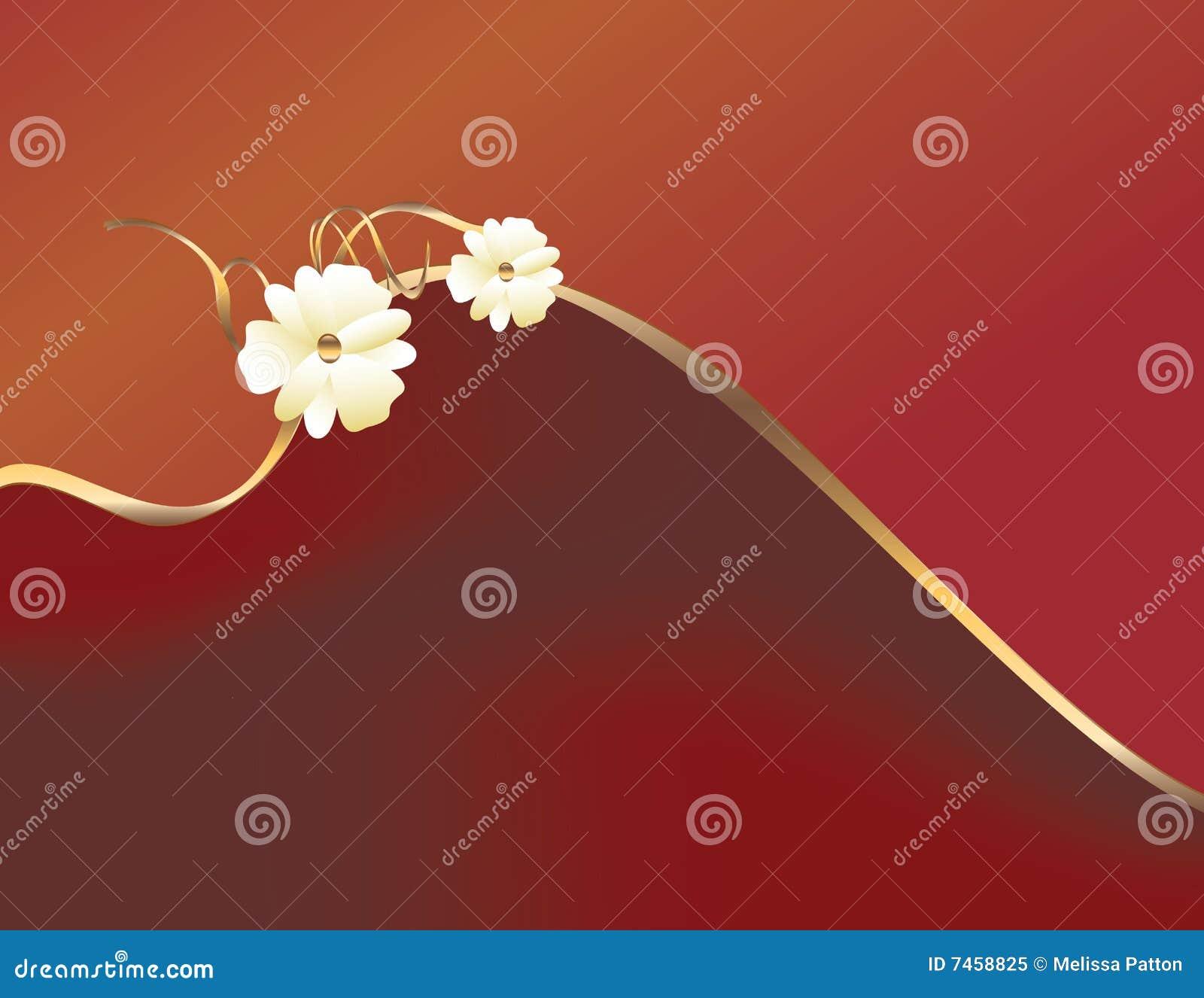 Rouge d or de fleur de conception
