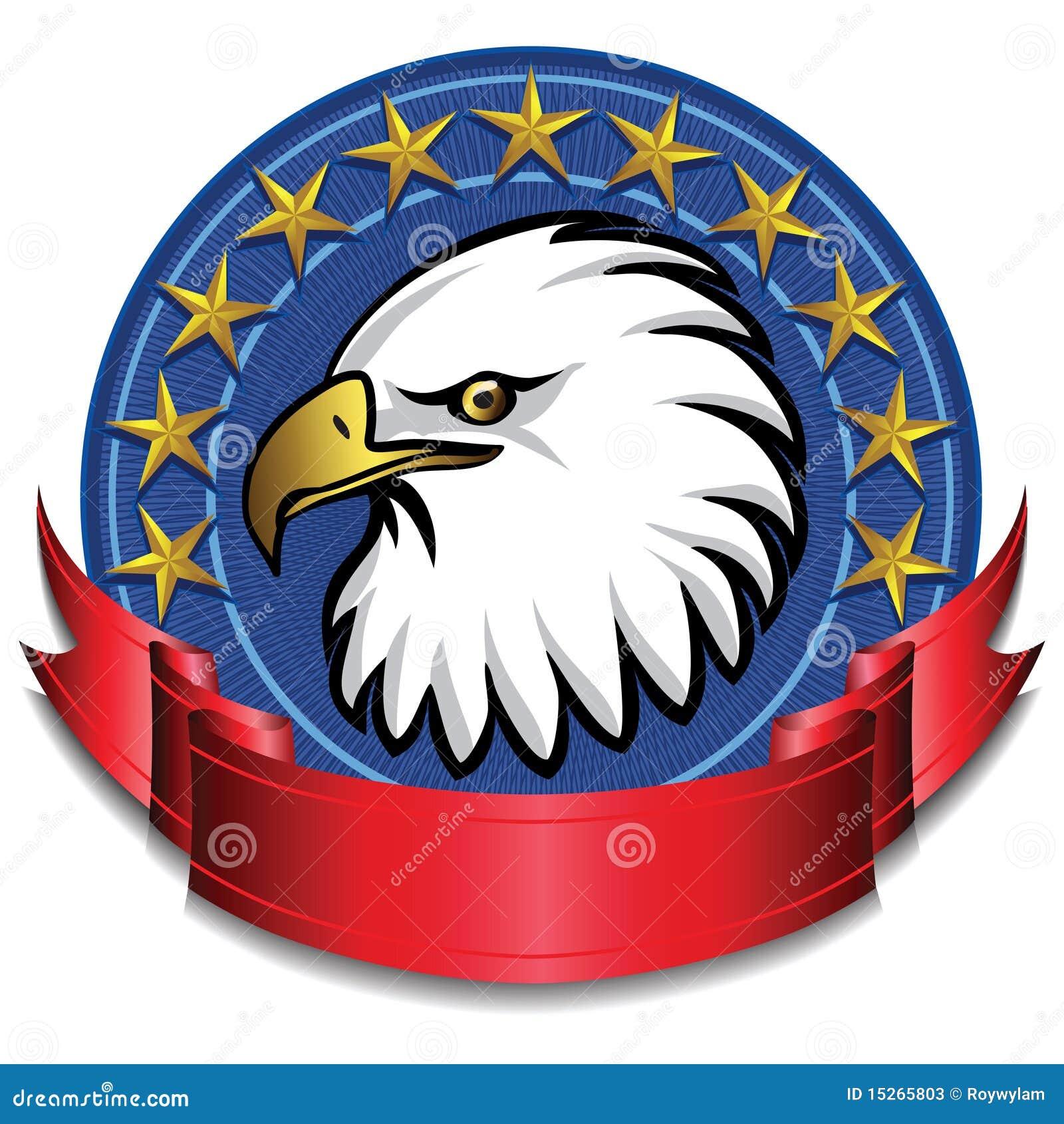 Rouge de drapeau d aigle