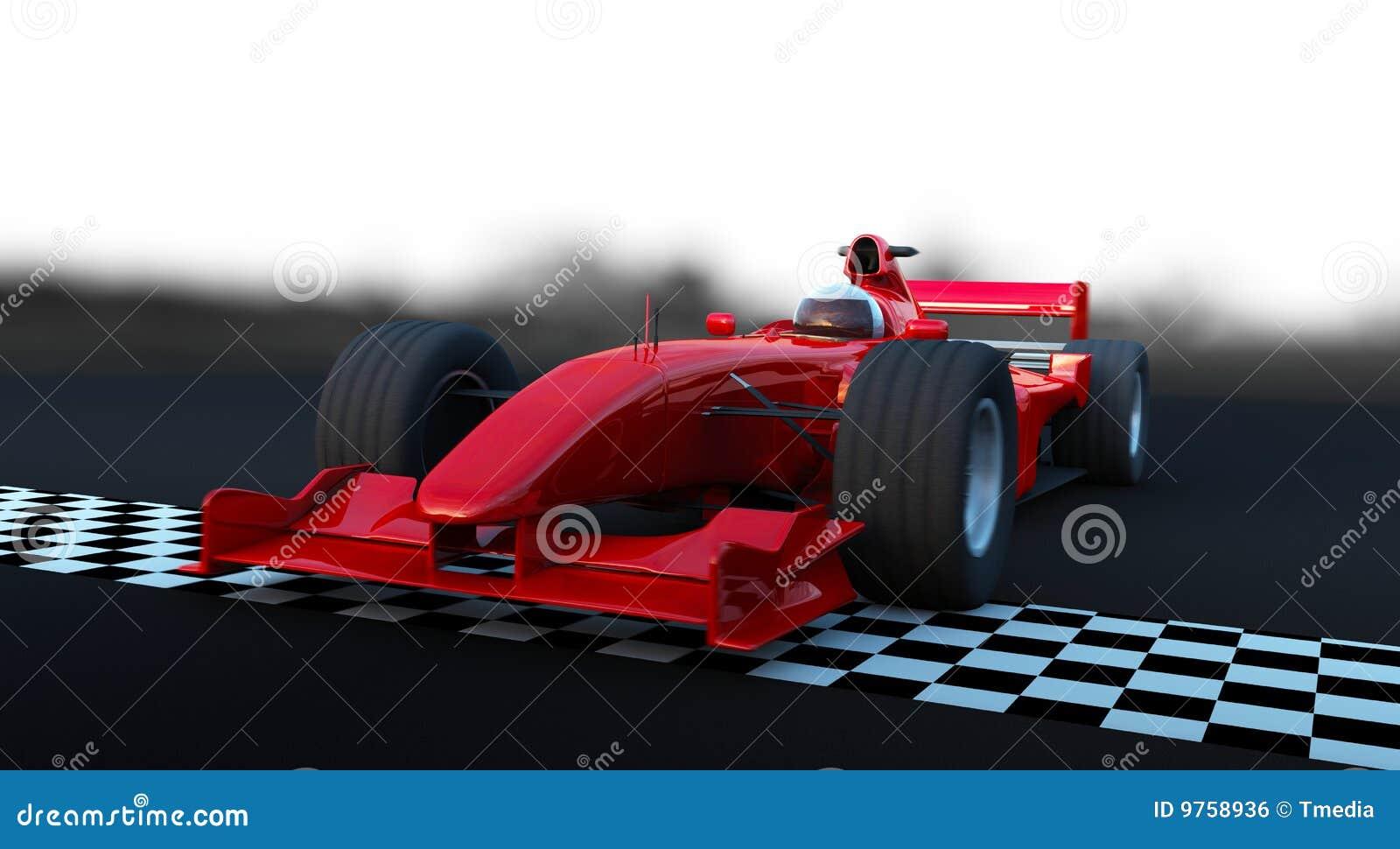 Rouge de véhicule de sport de la formule 1